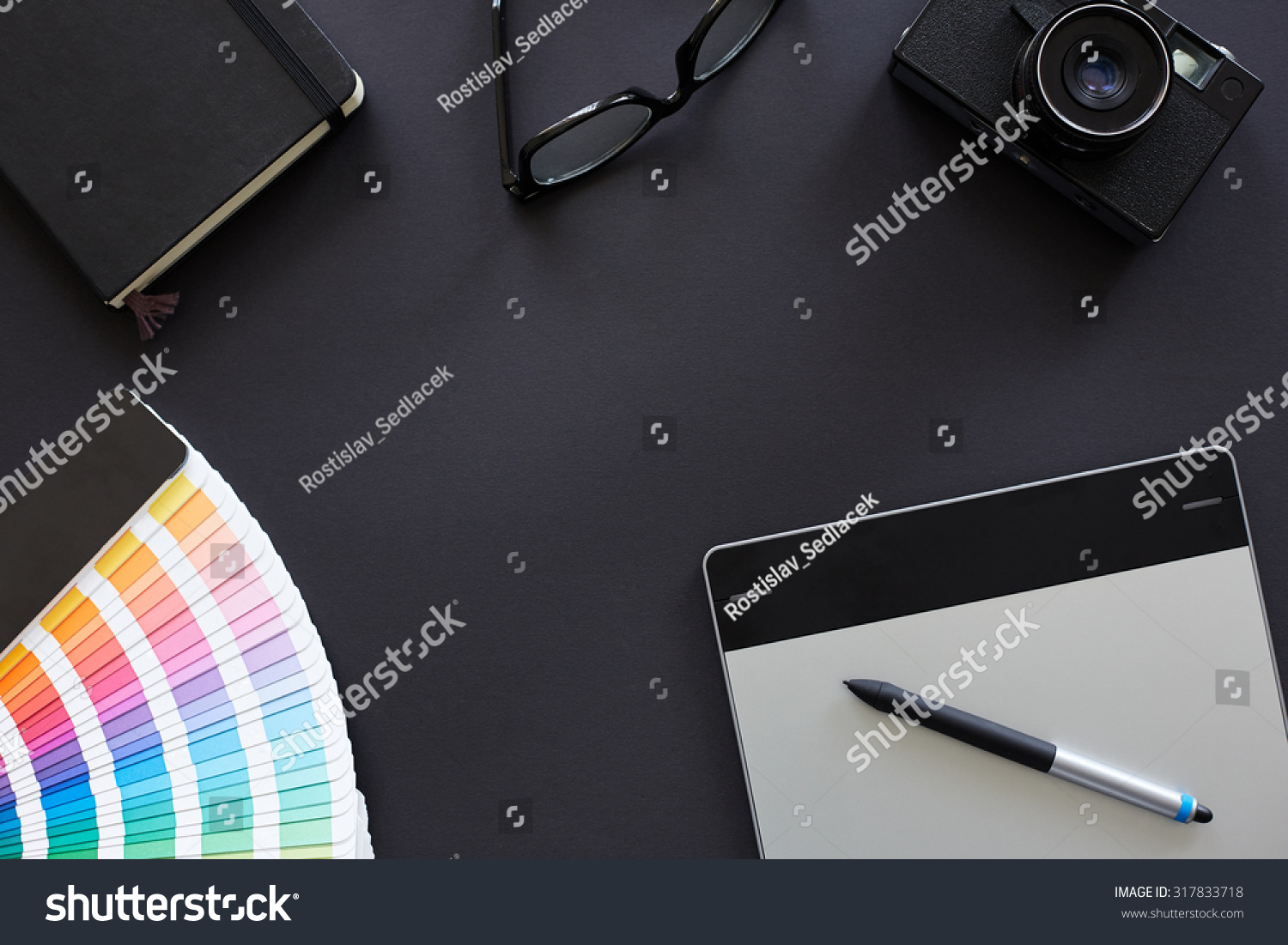 Top view table graphic designer stock photo 317833718 for Table graphic design