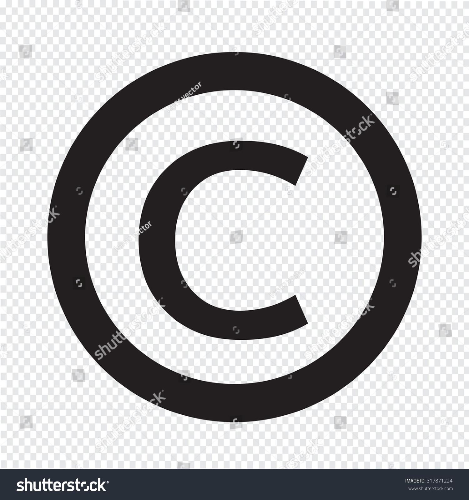 Copyright symbol icon stock vector 317871224 shutterstock copyright symbol icon biocorpaavc