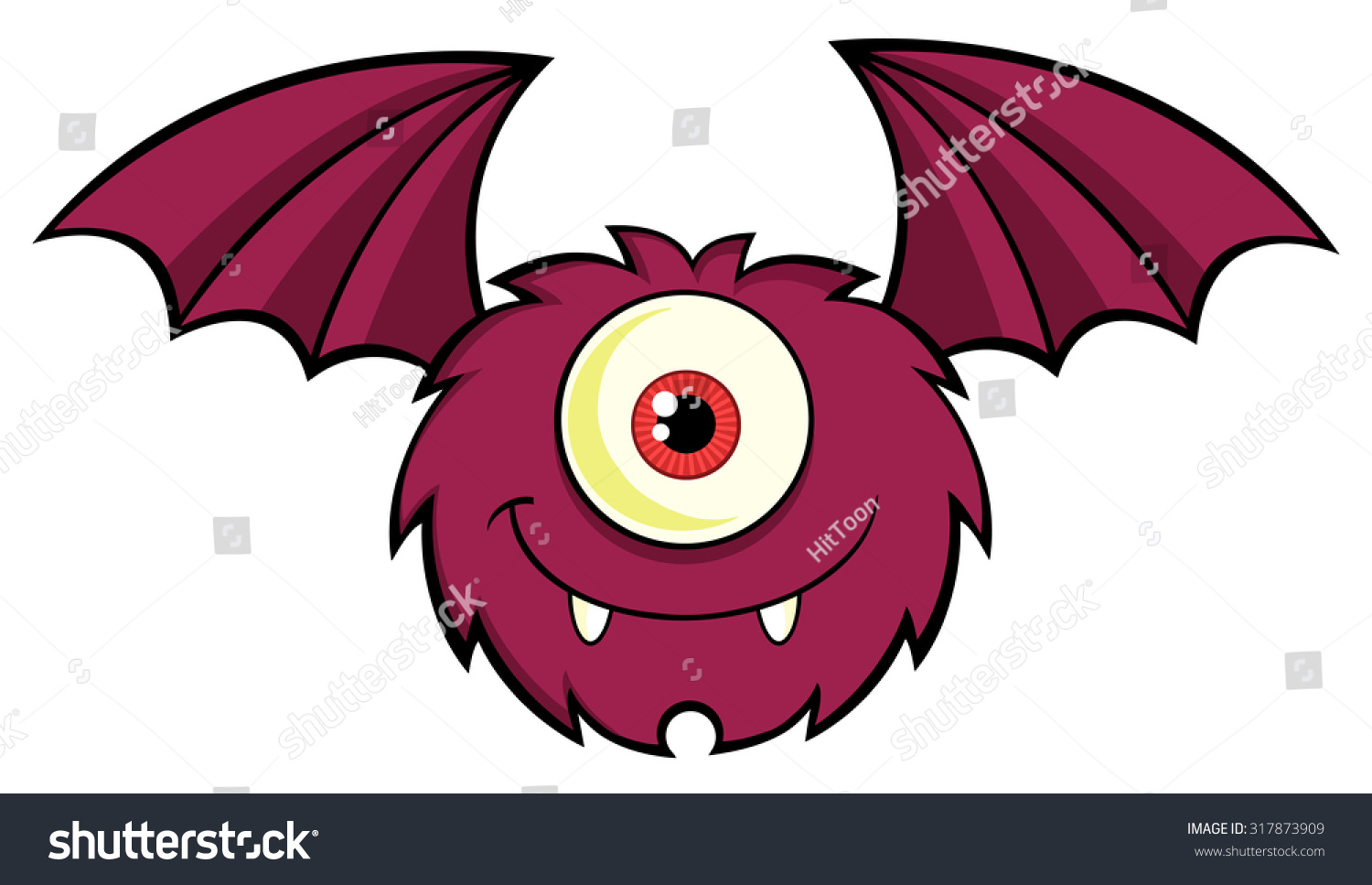 1 Eyed Cartoon Characters : Cute one eyed monster cartoon character stock vector