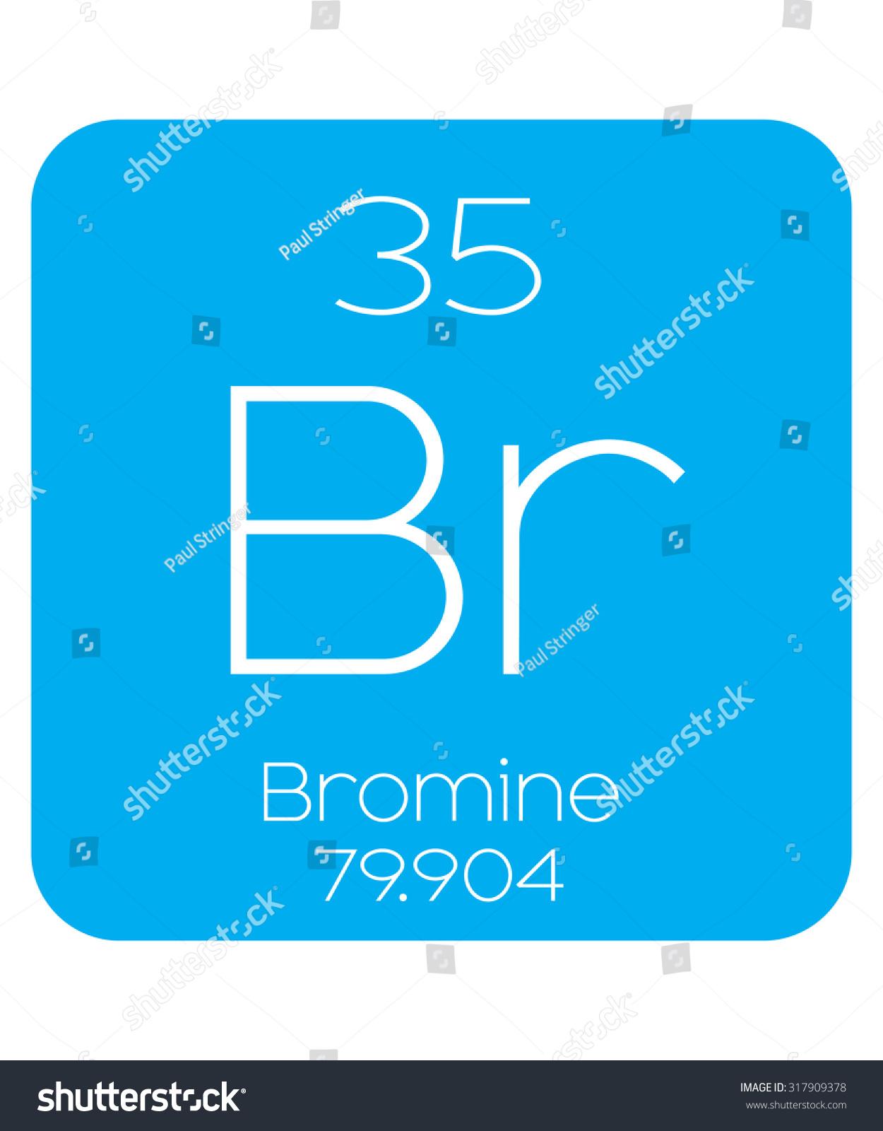 Informative illustration periodic element bromine stock vector an informative illustration of the periodic element bromine gamestrikefo Image collections
