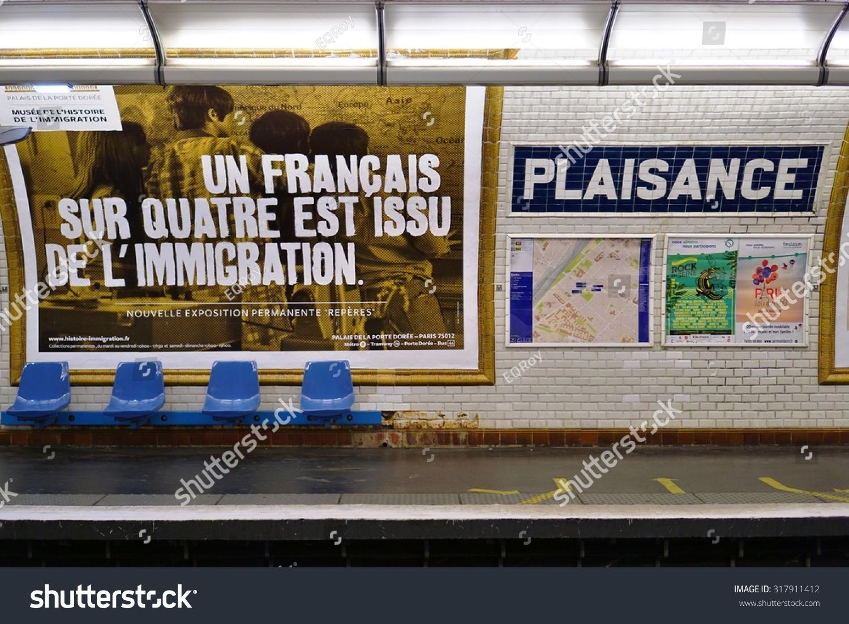 Paris France 8 July 2015 Plaisance Stock Photo (Royalty Free ...