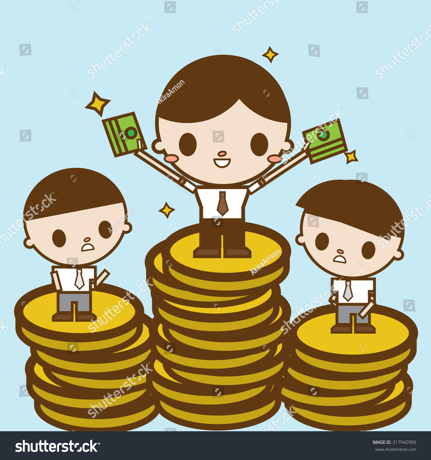 Character Designer Salary : Salary variation business concept cartoon illustration