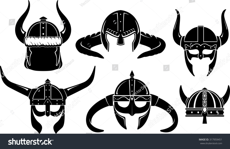 viking helmet norse warrior set stock vector 317959451 shutterstock