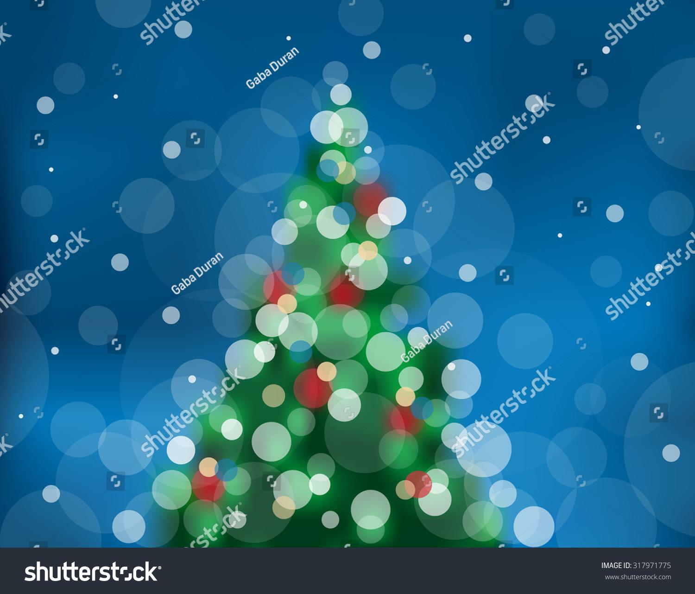 Color Christmas Tree Make Circles Light Stock Vector 317971775 ...