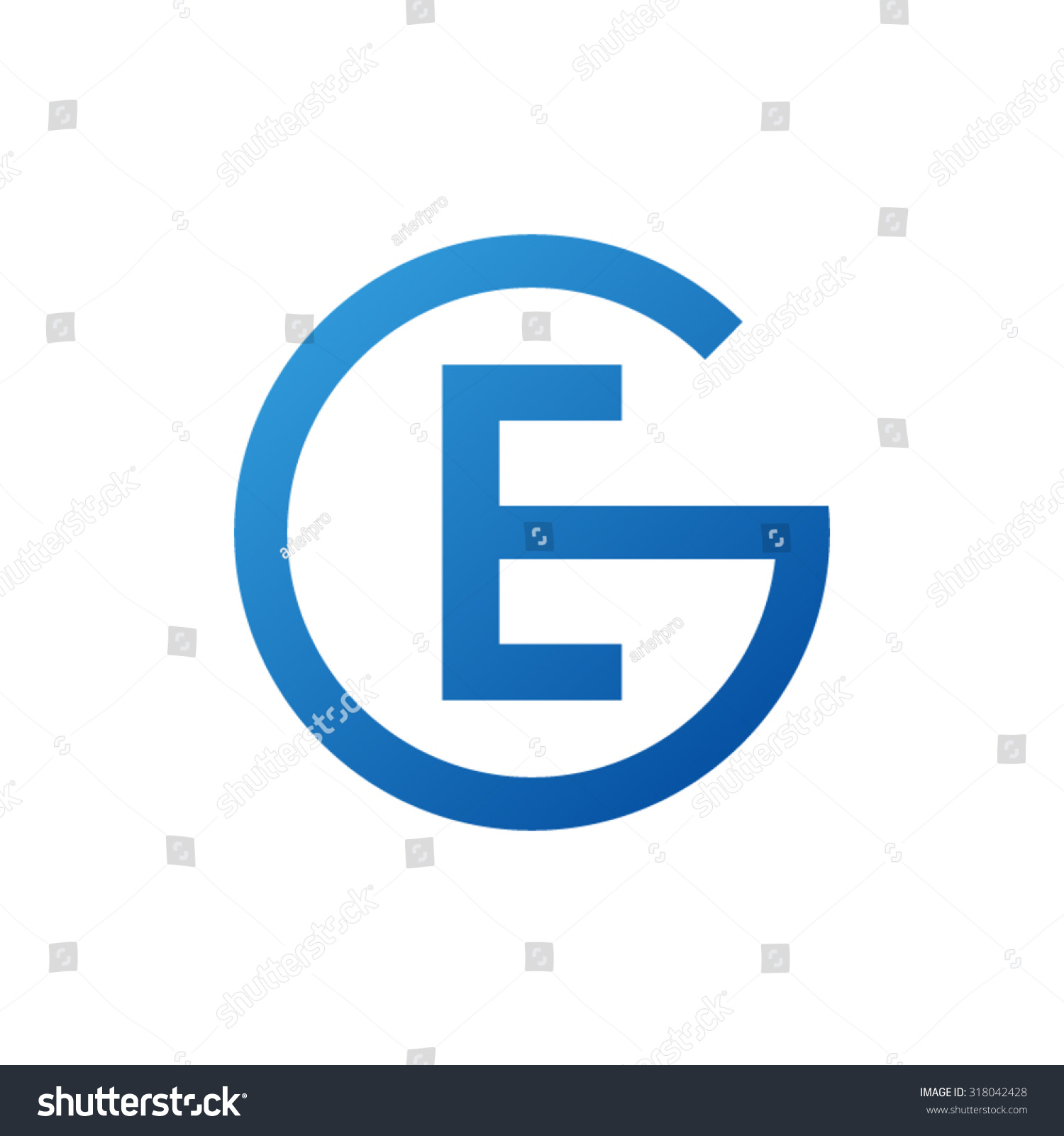 Ge initial company circle g logo stock vector 318042428 shutterstock eg ge initial company circle g logo blue biocorpaavc Gallery