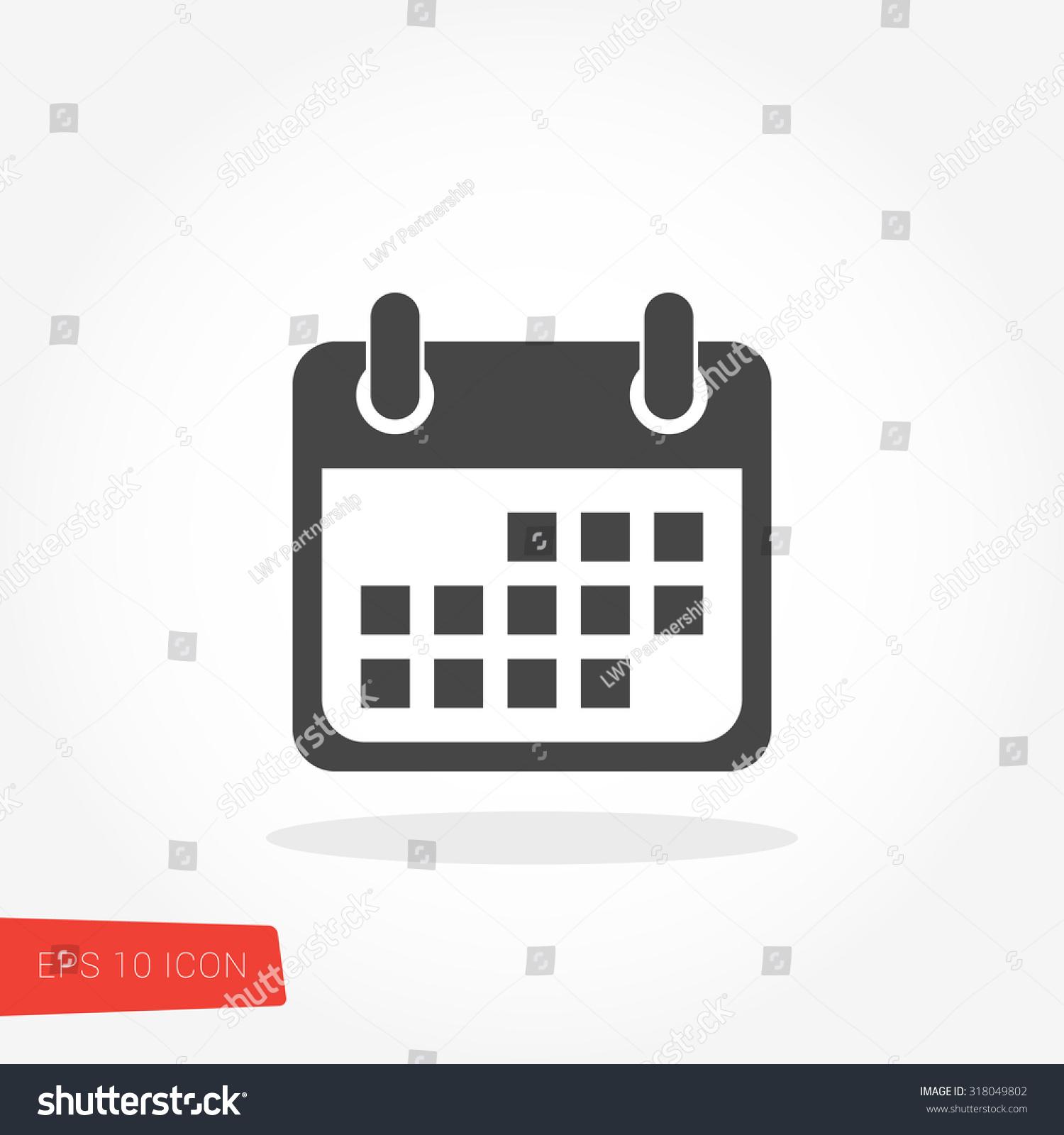 Calendar Isolated Flat Web Mobile Icon Stock Vector 318049802 ...