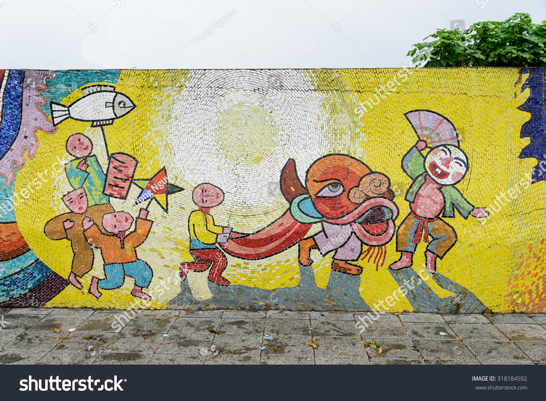 Hanoivietnamsept 17 2015colorful Ceramic Tiles Texture Stock Photo ...