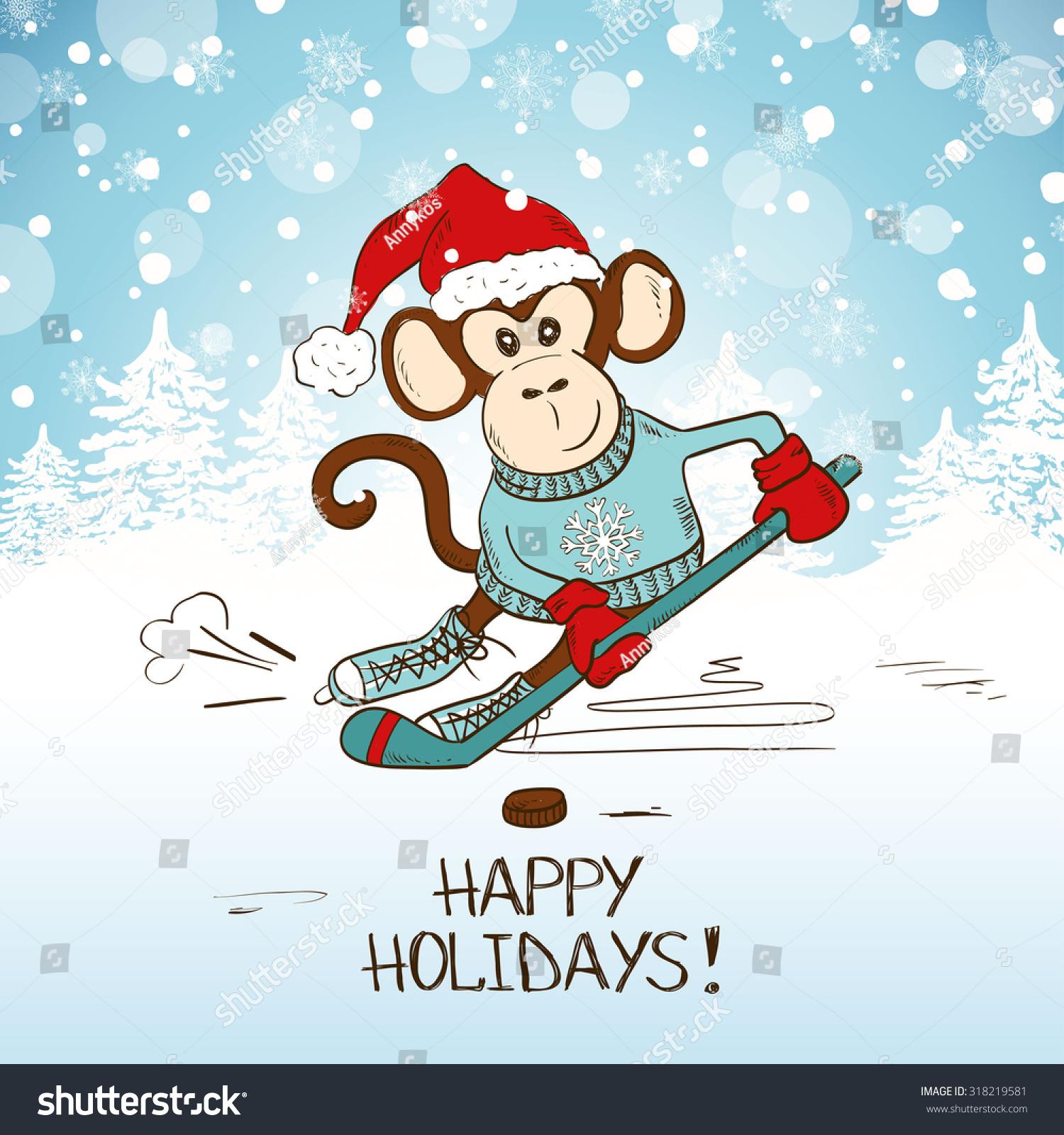 Картинки с Новым годом 2017 год обезьяны