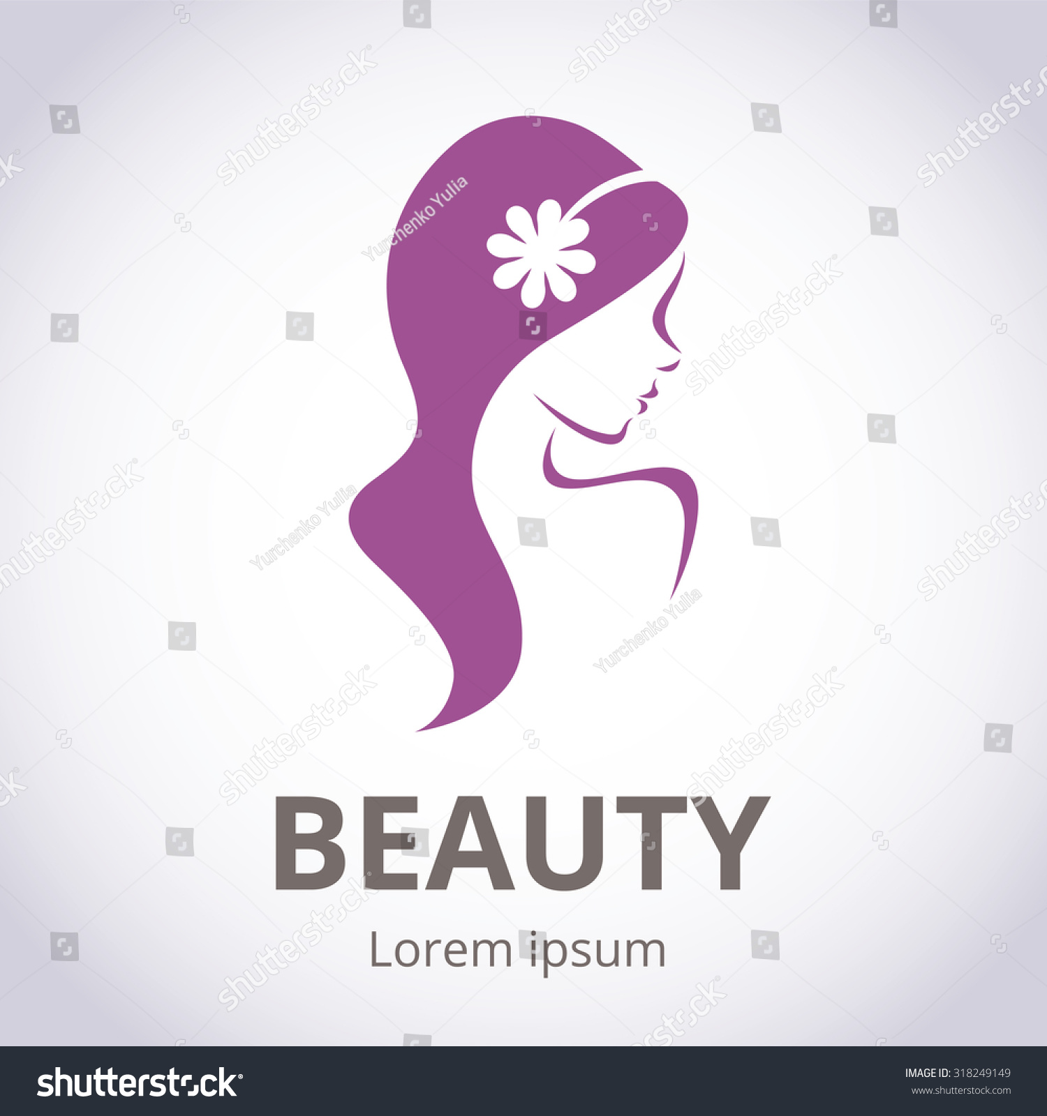 Abstract logo beauty salon stylized profile stock vector for Abstract beauty salon