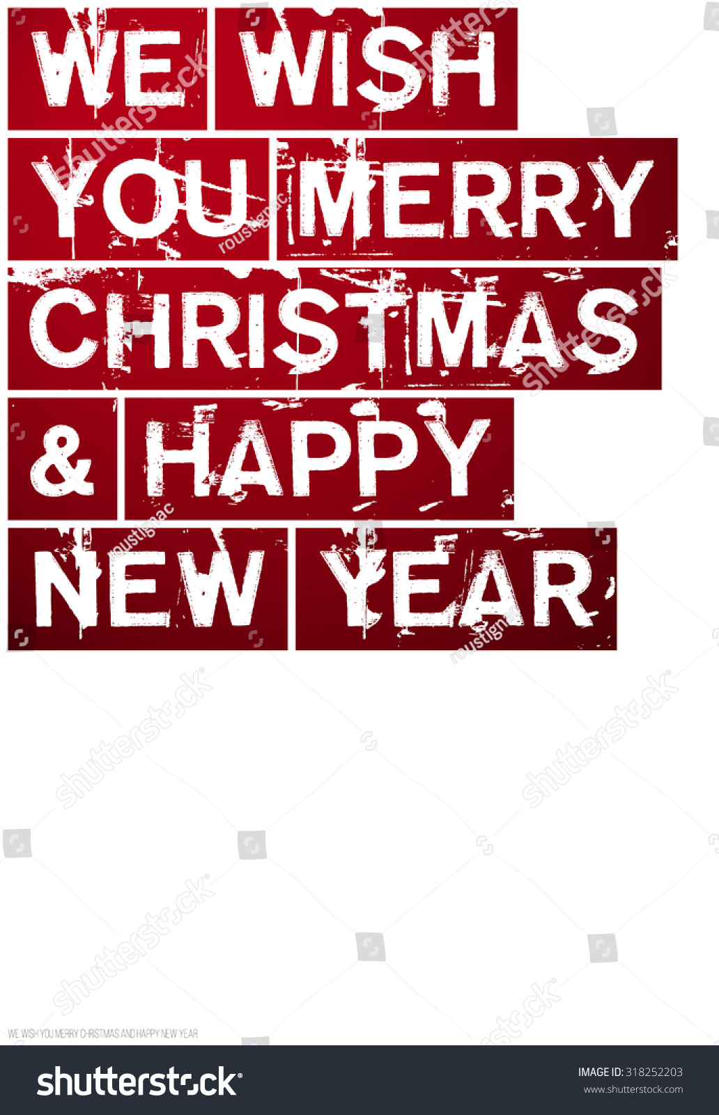 Merry Christmas And Happy New Year Poster Greeting Card Web Site
