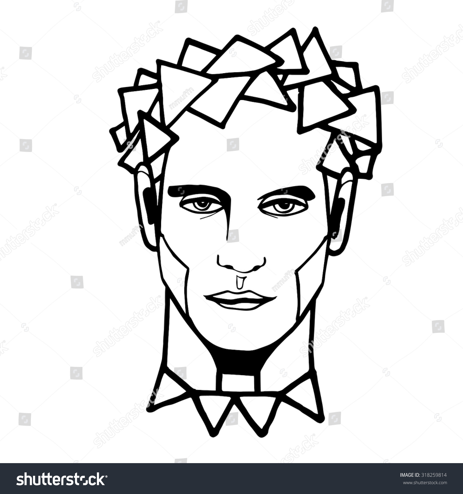 Man S Face Line Drawing : Man portrait face drawing drawings art arts graphic