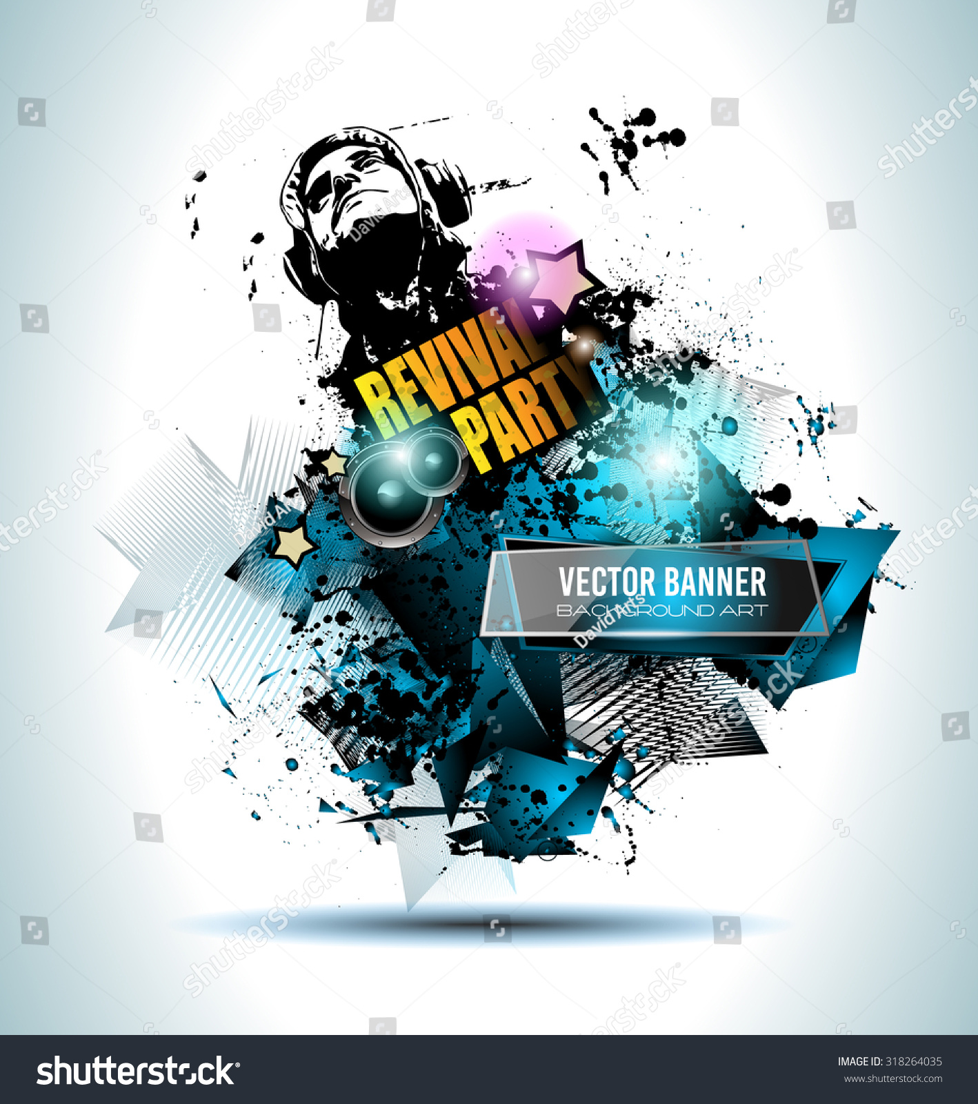 Disco Club Flyer Template Your Music Stock Vector 318264035 ...
