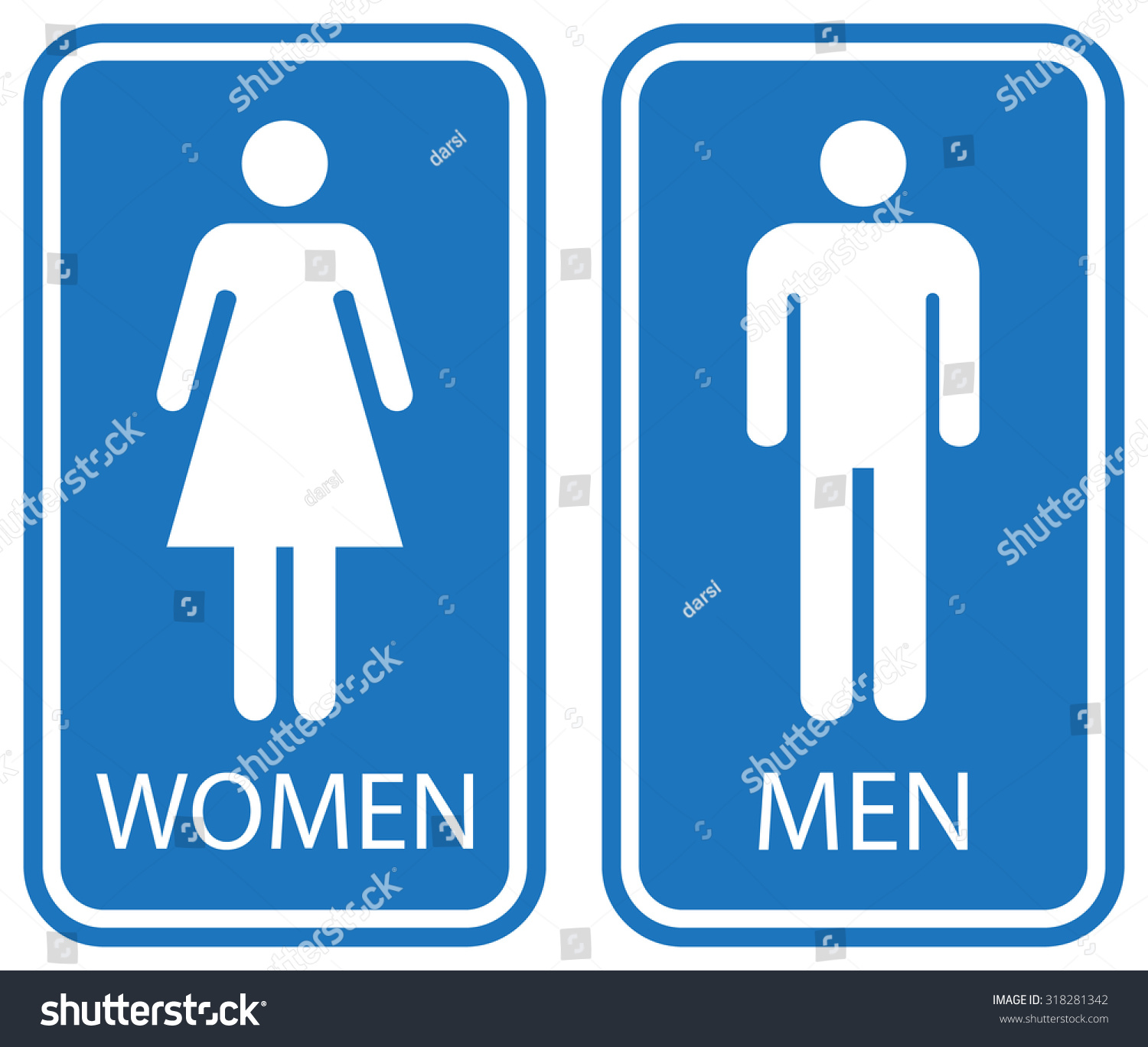 Bathroom Signs Male royalty-free male and female toilet signs, white… #318281342 stock