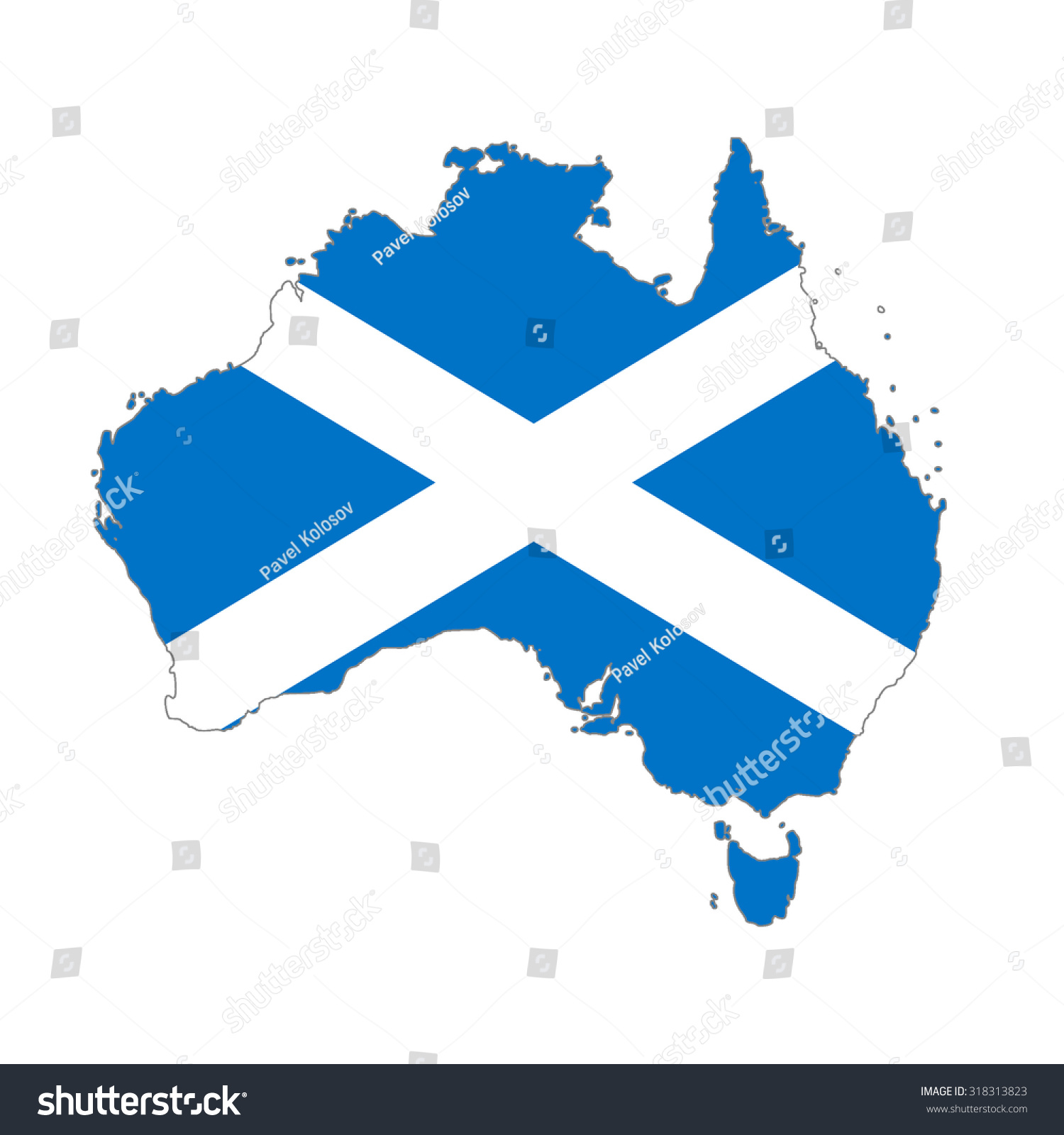 map australia scotland flag colors scotch stock illustration