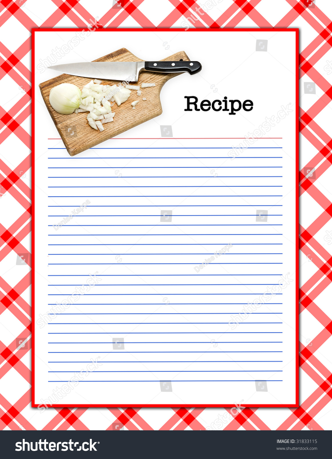 Red White Recipe Layout Matching Background Stock Illustration ...