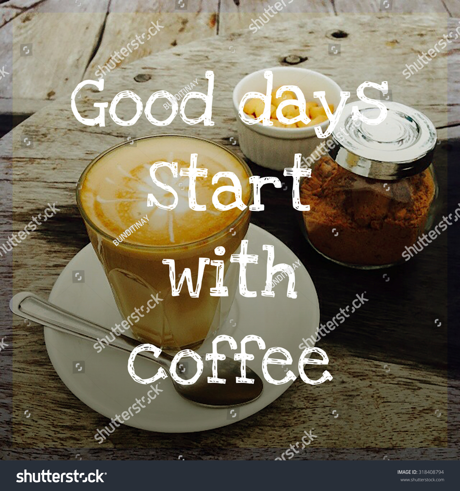 Inspirational Quote On Blurred Coffee Cup Background With Vintage Filter