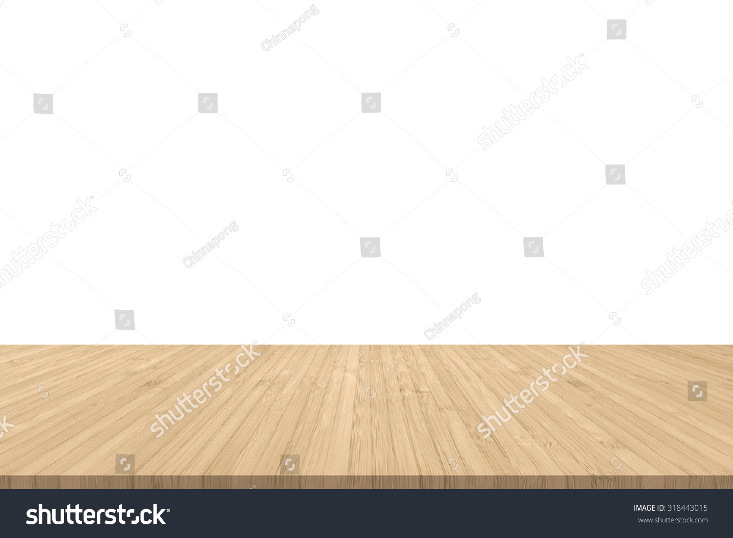 Light Wood Floor Background. Isolated wood floor texture in light yellow cream color with empty white  wall background Wood Floor Texture Light Yellow Stock Photo 318443015