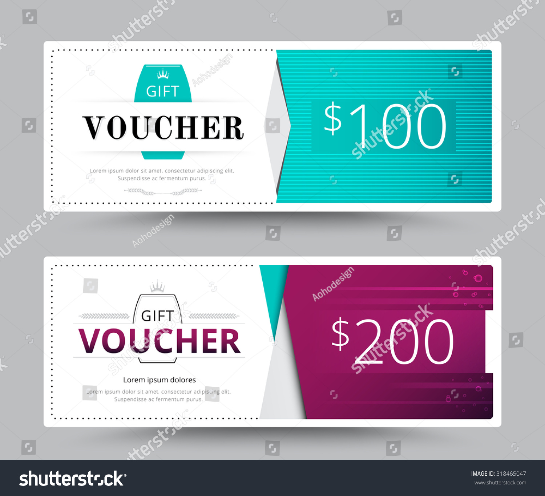 Gift Voucher Card Business Voucher Template Vector 318465047 – Voucher Card Template