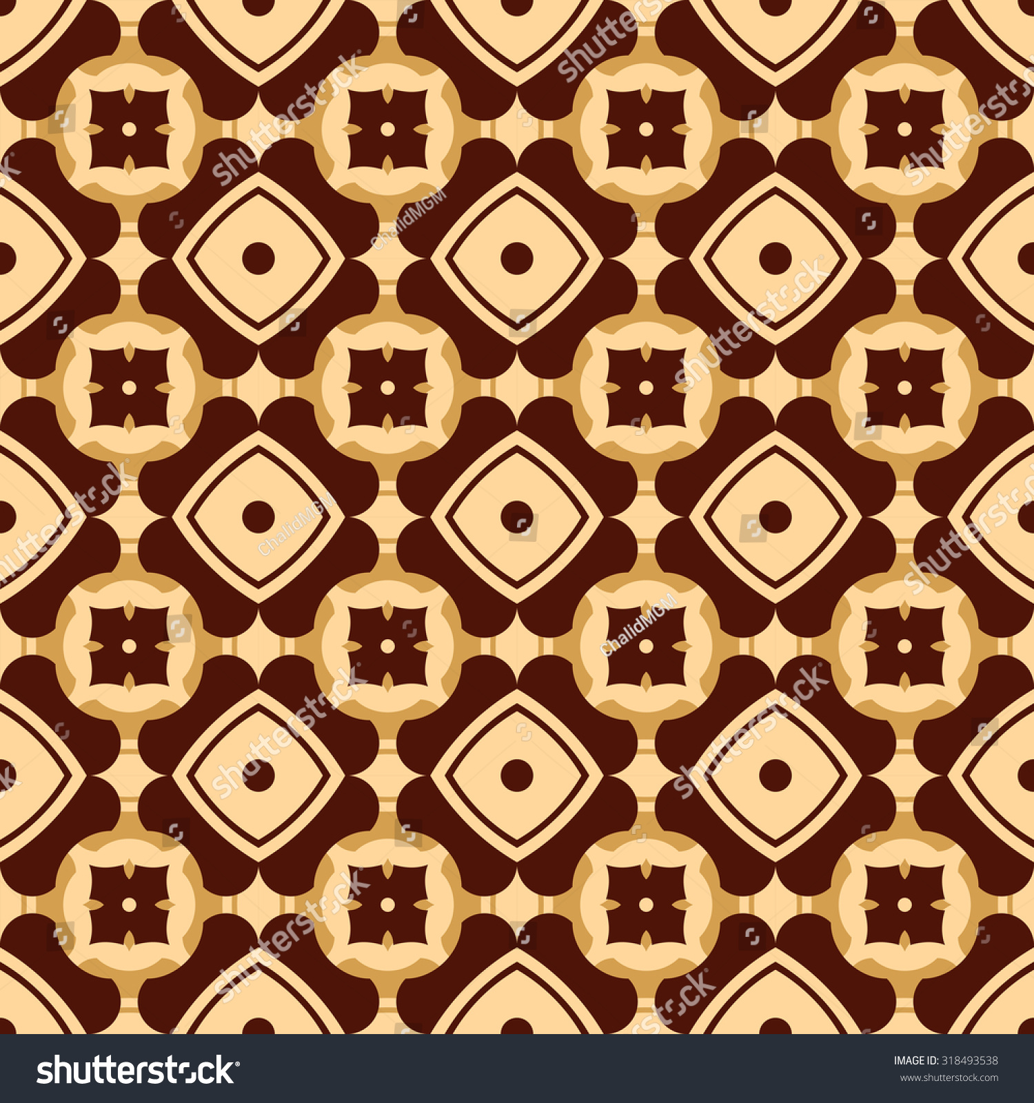 Ethnic Geometric Pattern Adaptation Batik Indonesia Stock