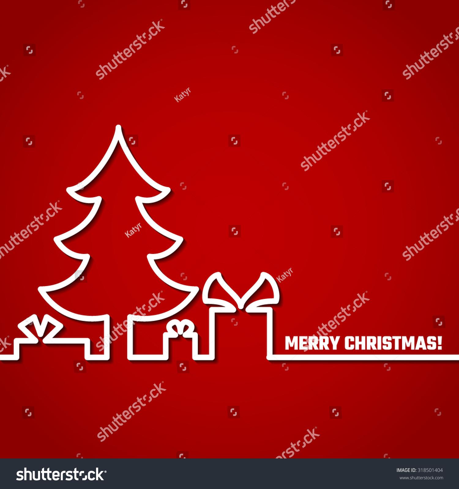 vector illustration christmas outline background design stock