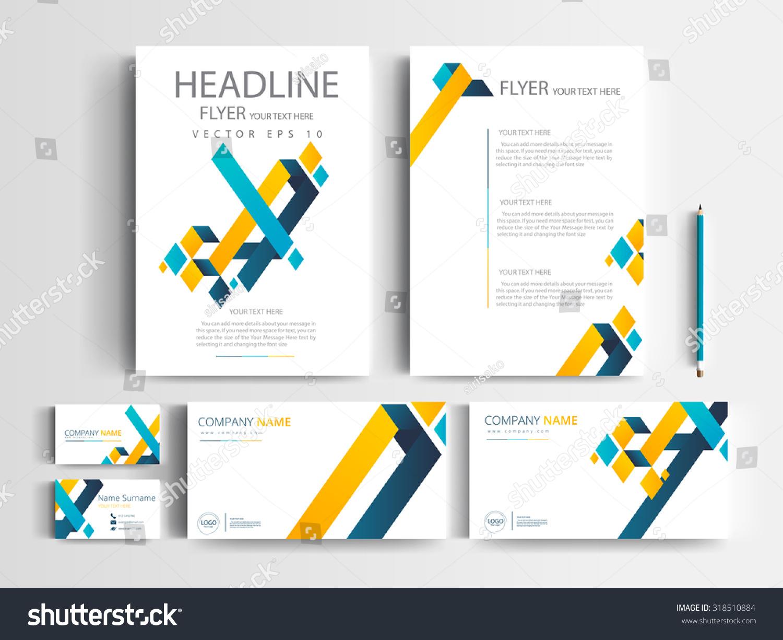 corporate identity design set templates modern stock vector