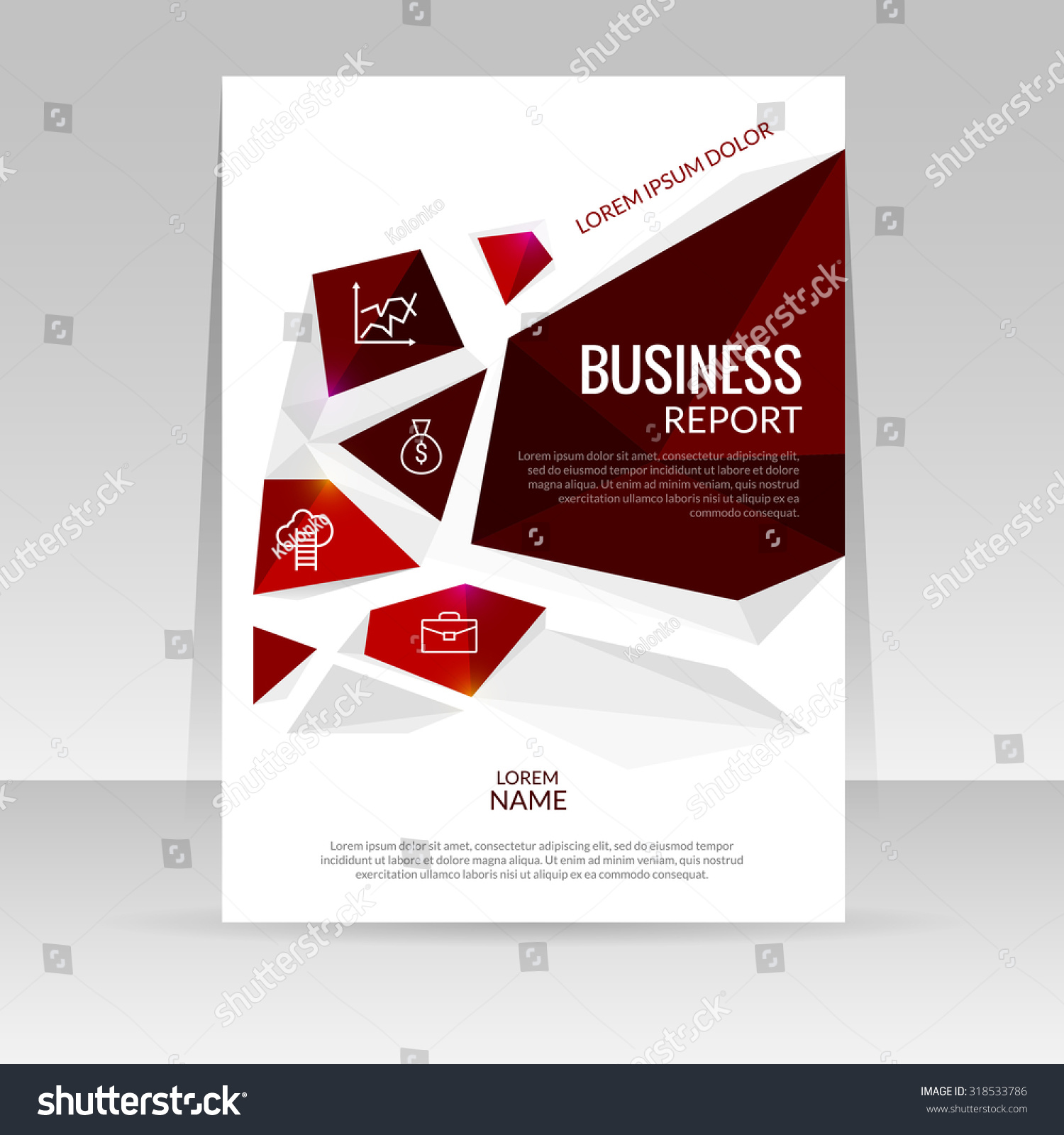 vector design template for business cover report annual brochure vector design template for business cover report annual brochure flyer poster triangles