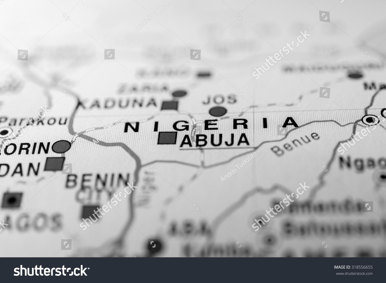 Map View Nigeria State Africa Stock Photo 318556655 Shutterstock