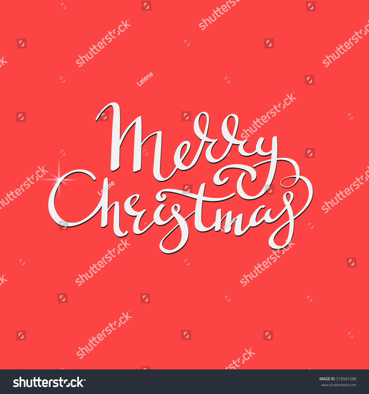 Merry christmas flourish decorative lettering calligraphy