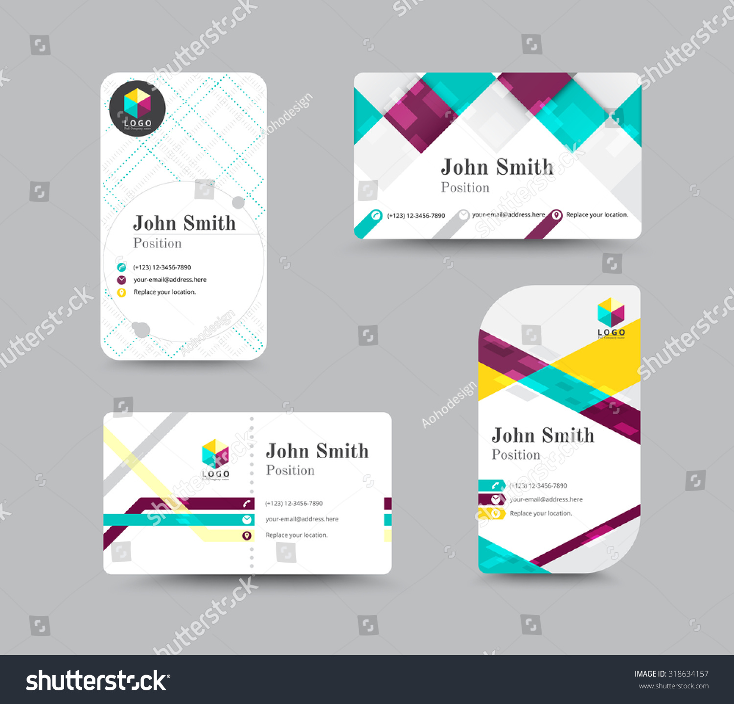 Corporate Business Card Personal Name Card Stock Vector 318634157 ...