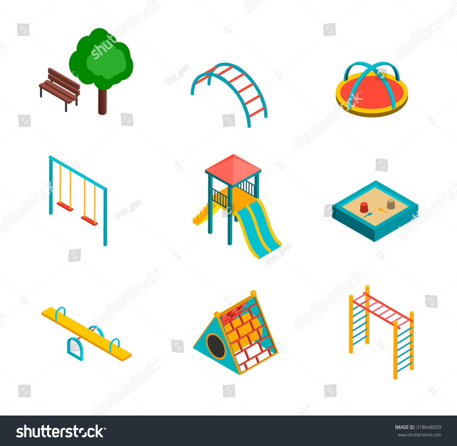 Stock Vector Isometric Kids
