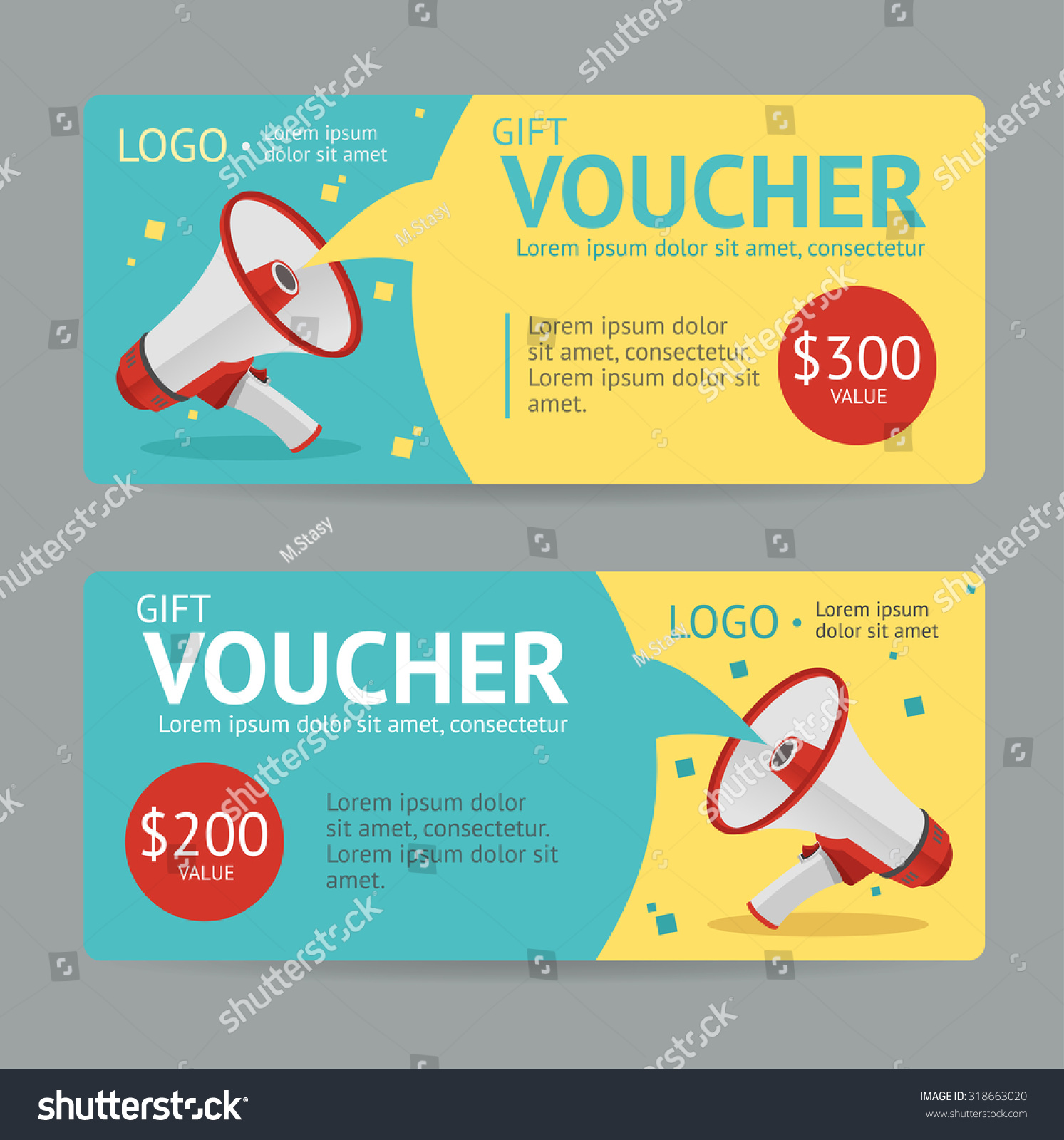 Gift Voucher Template Announcement Winning Vector Stock Vector ...