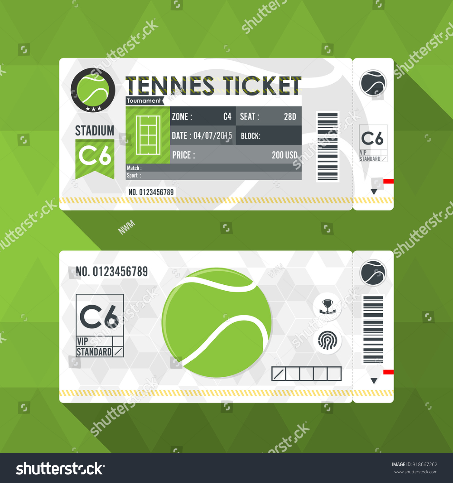 Tennis ticket card modern element design stock vector 318667262 tennis ticket card modern element design alramifo Image collections