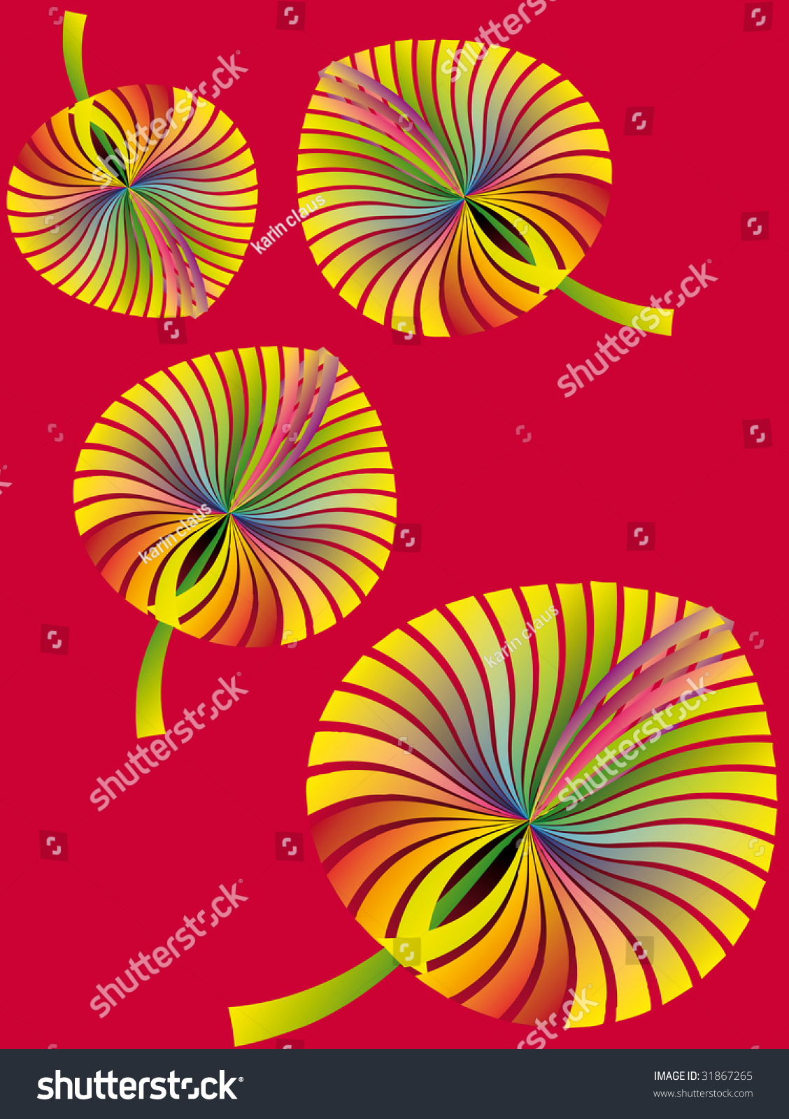 Fantasy Wallpaper Collection Rainbow Colored Autumn Stock Vector ...