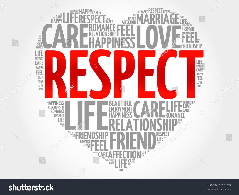 Respect Concept Heart Word Cloud Stock Vector 318673769 ...