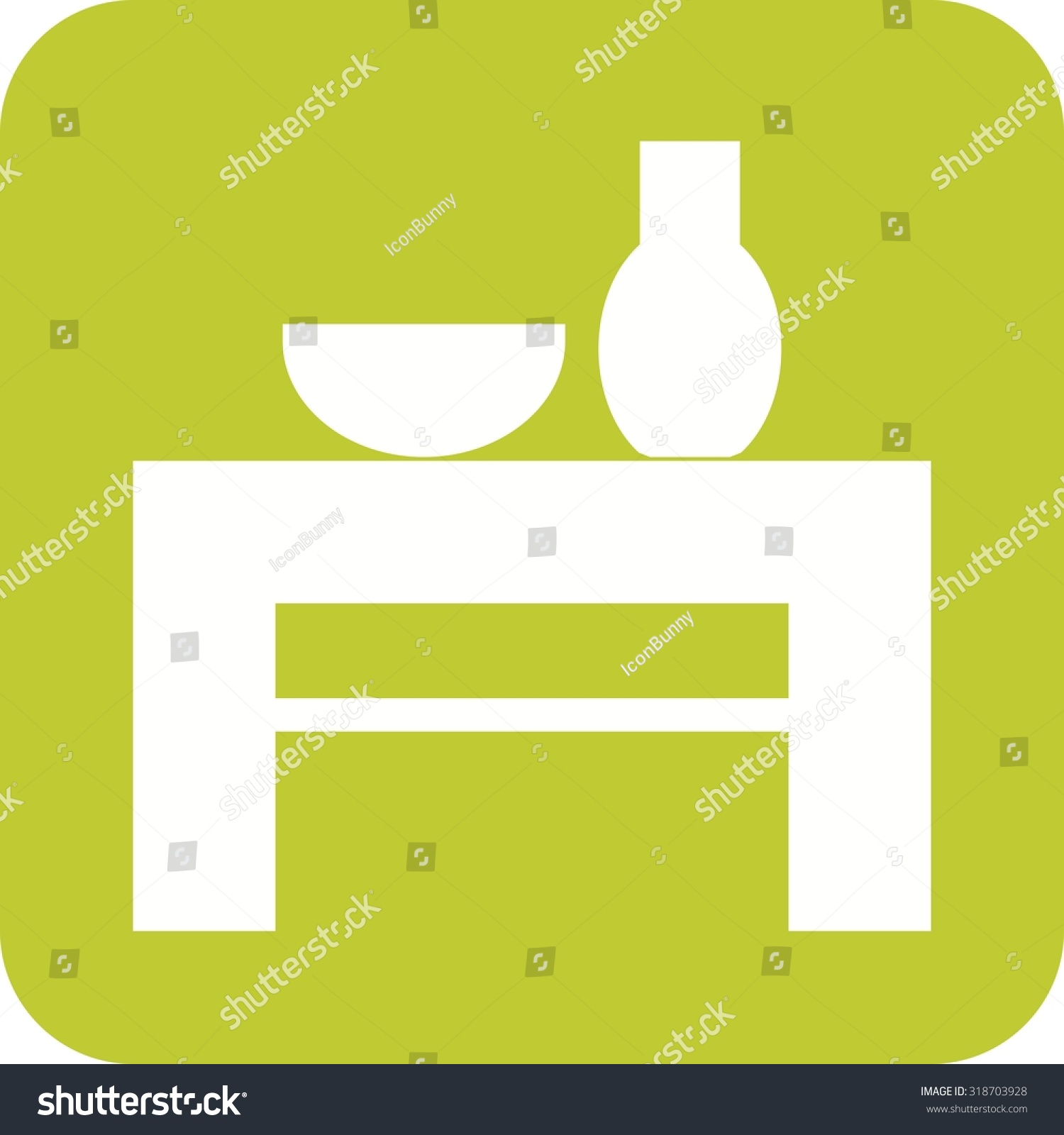 Table wedding decoration icon vector image stock vector 318703928 table wedding decoration icon vector imagen also be used for furniture design junglespirit Image collections