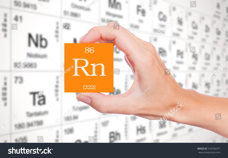 Radon symbol handheld front periodic table stock photo 318756377 radon symbol handheld in front of the periodic table buycottarizona