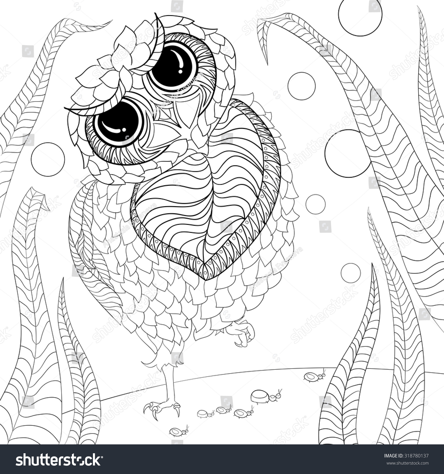 art and color therapy an anti stress coloring book wise owl and flora