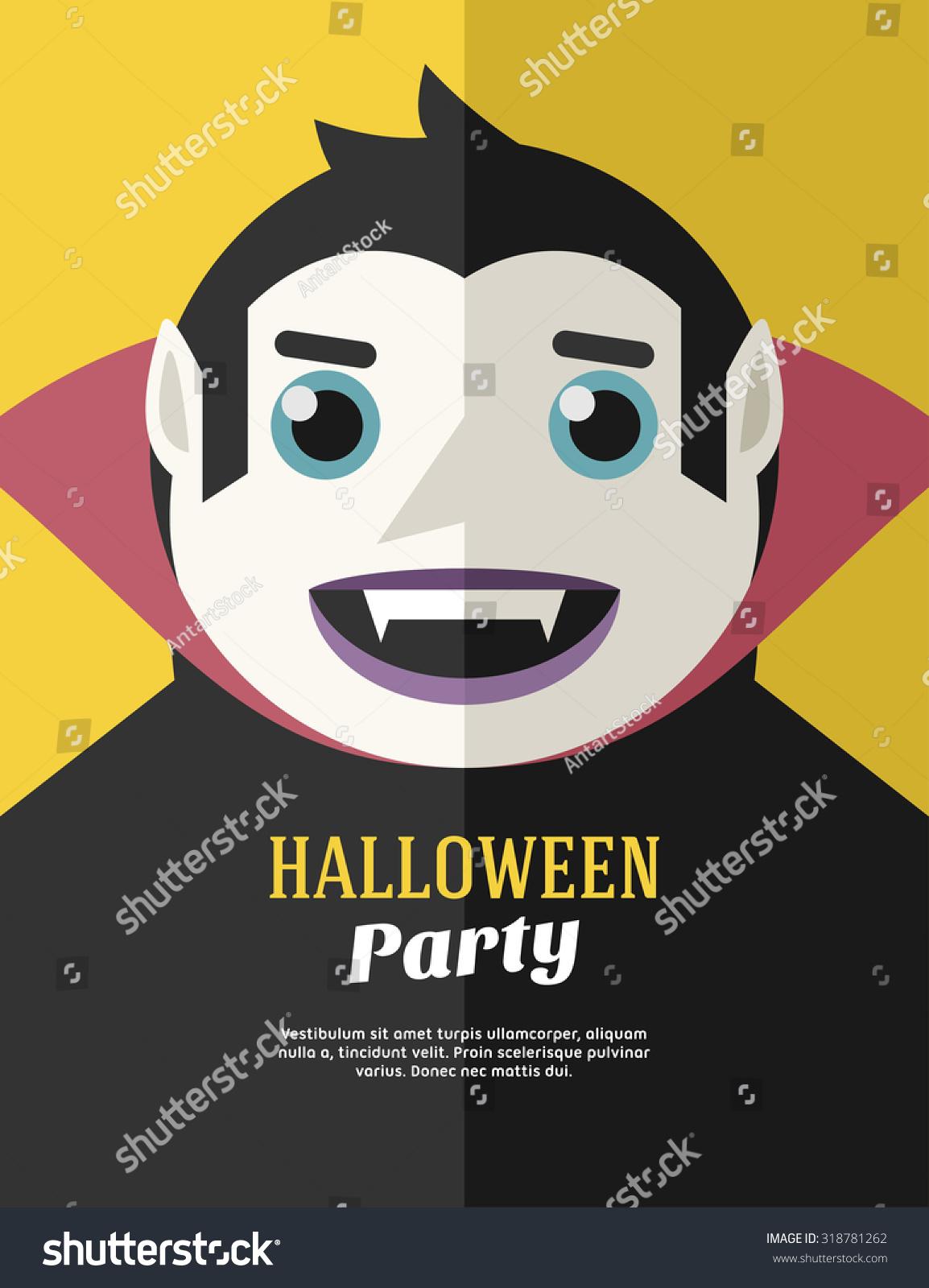 Halloween Party Flyer Poster Vector Template Stock Vector ...