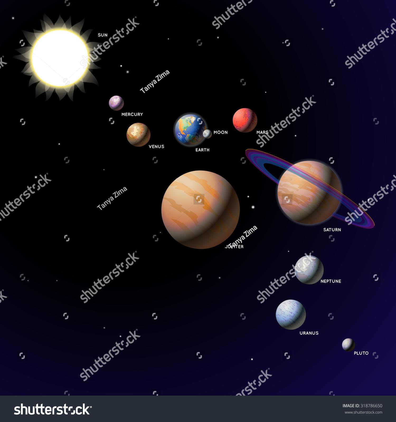 Solar System Planets - Vector Illustration Of The Solar ...
