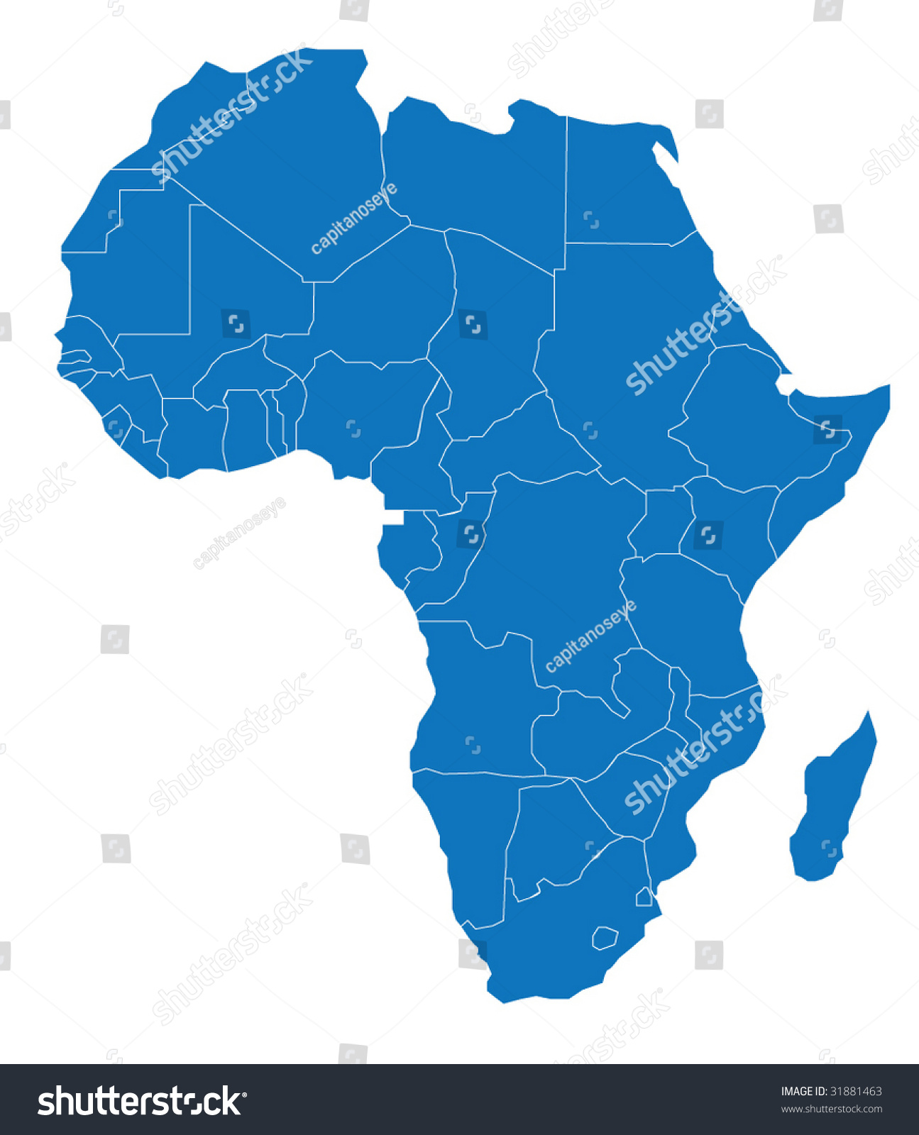 map of africa the african continent separable borders for each country