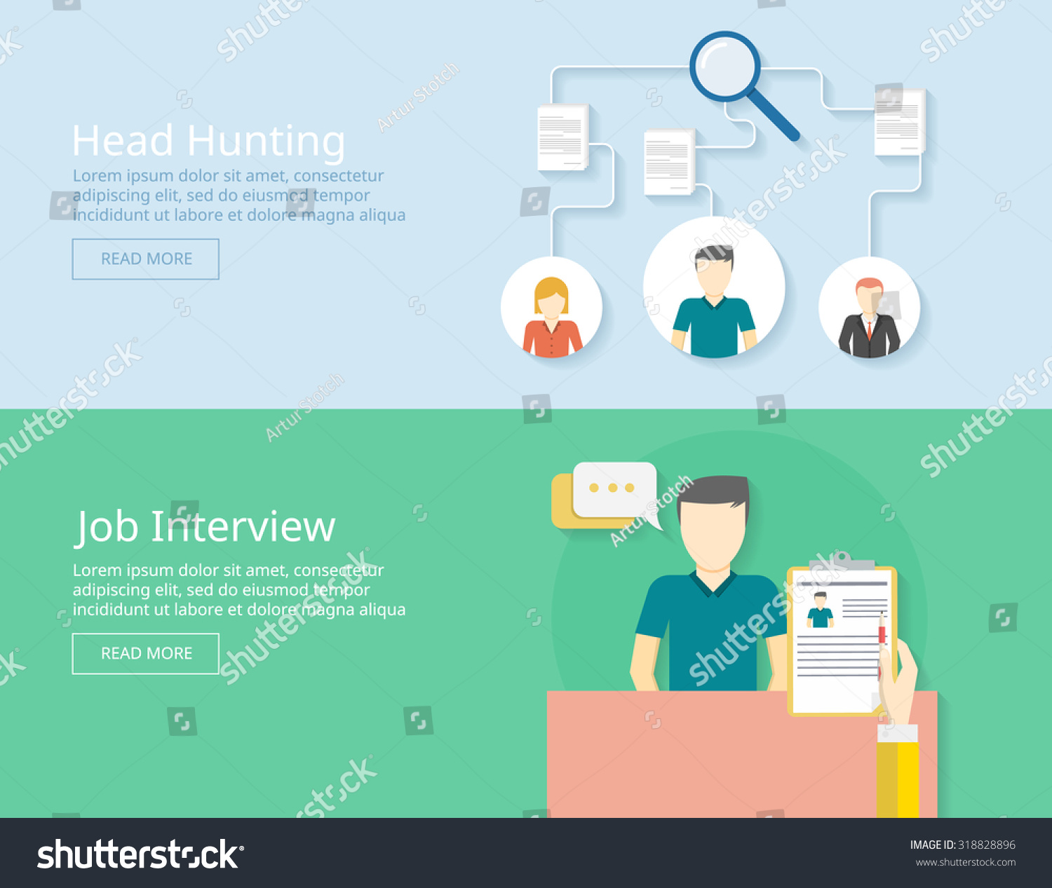 job and head hunting recruiting employees job interview concept save to a lightbox