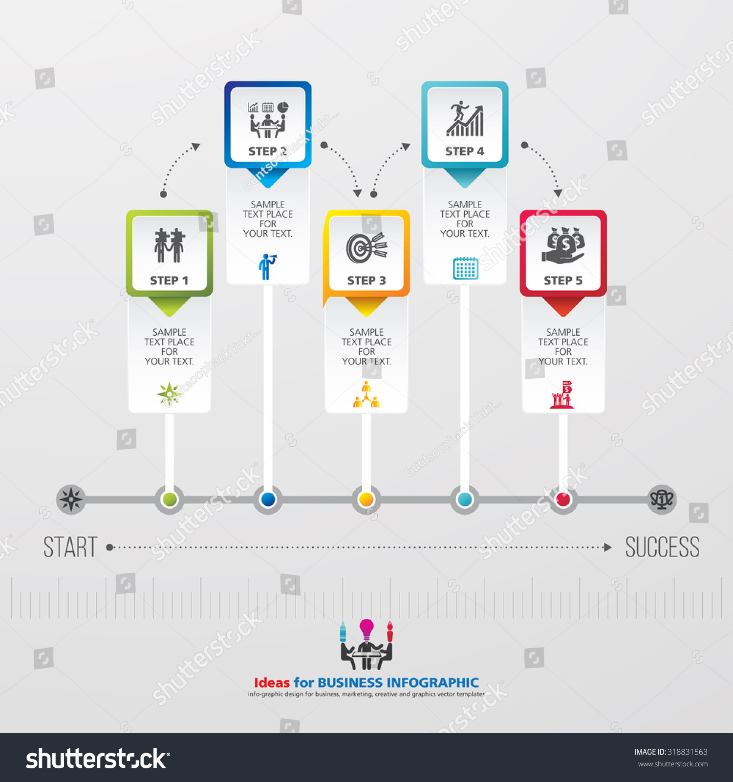 template modern info graphic design business stock vector royalty
