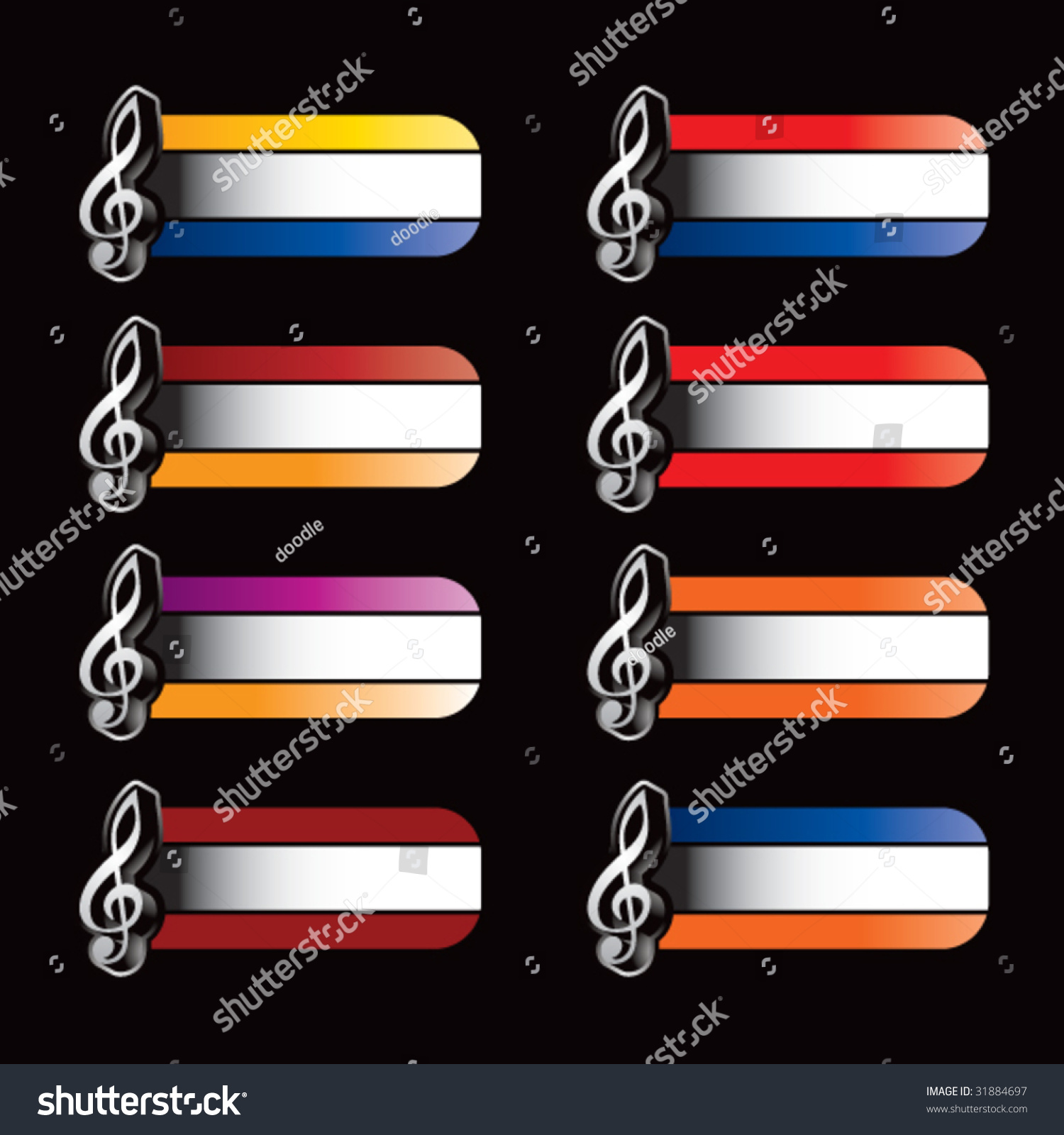 Treble Clef On Specialized Banners Stock Vector 31884697 Shutterstock