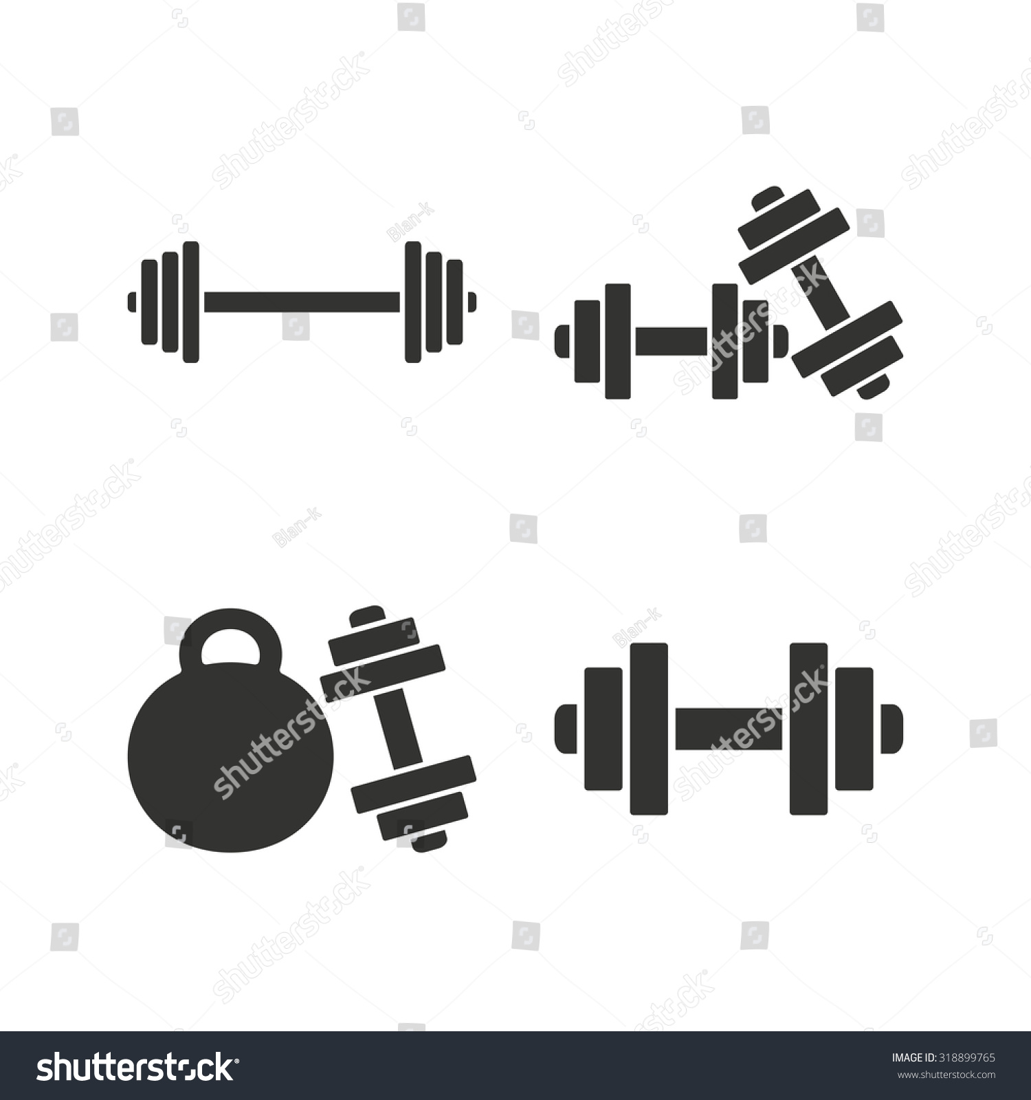 Dumbbells Sign Icons Fitness Sport Symbols Stock Photo Photo