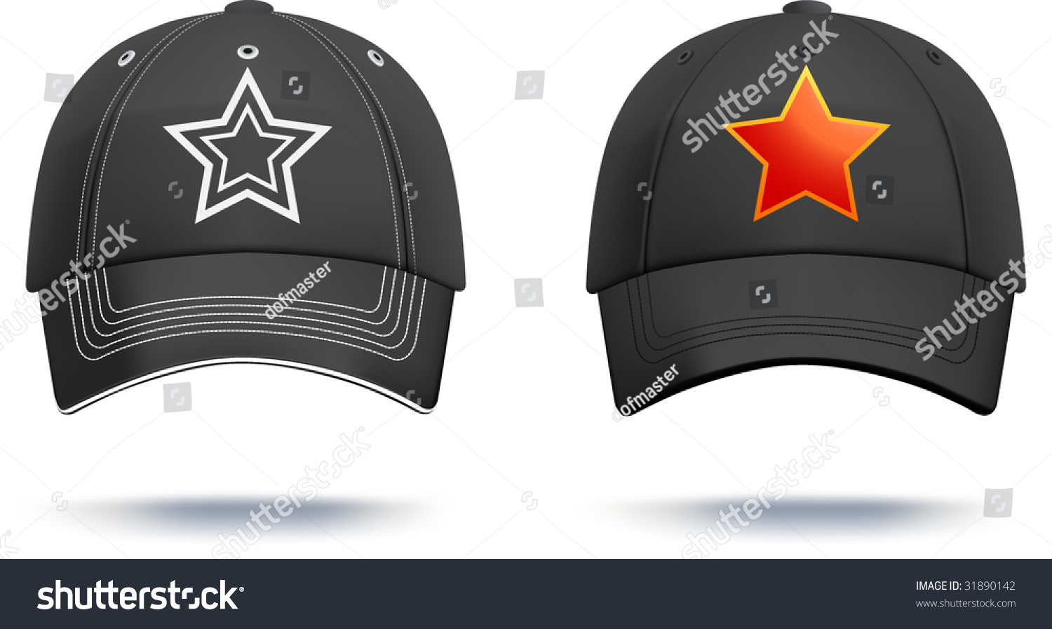 black baseball cap design template gradient mesh used details can be easily adjusted more. Black Bedroom Furniture Sets. Home Design Ideas