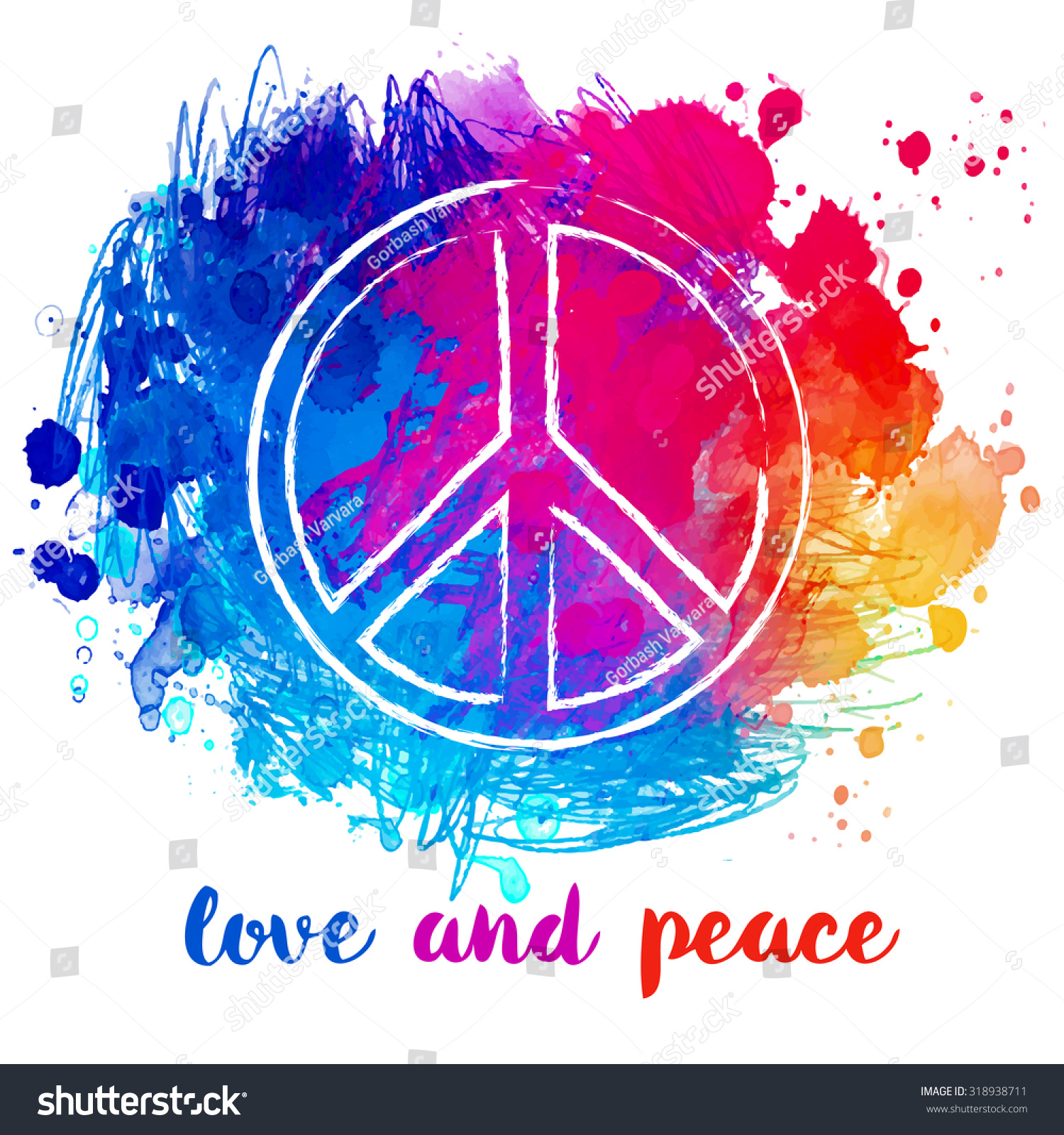 Psychedelic Groovy Peace Sign  Christian Hippie Peace