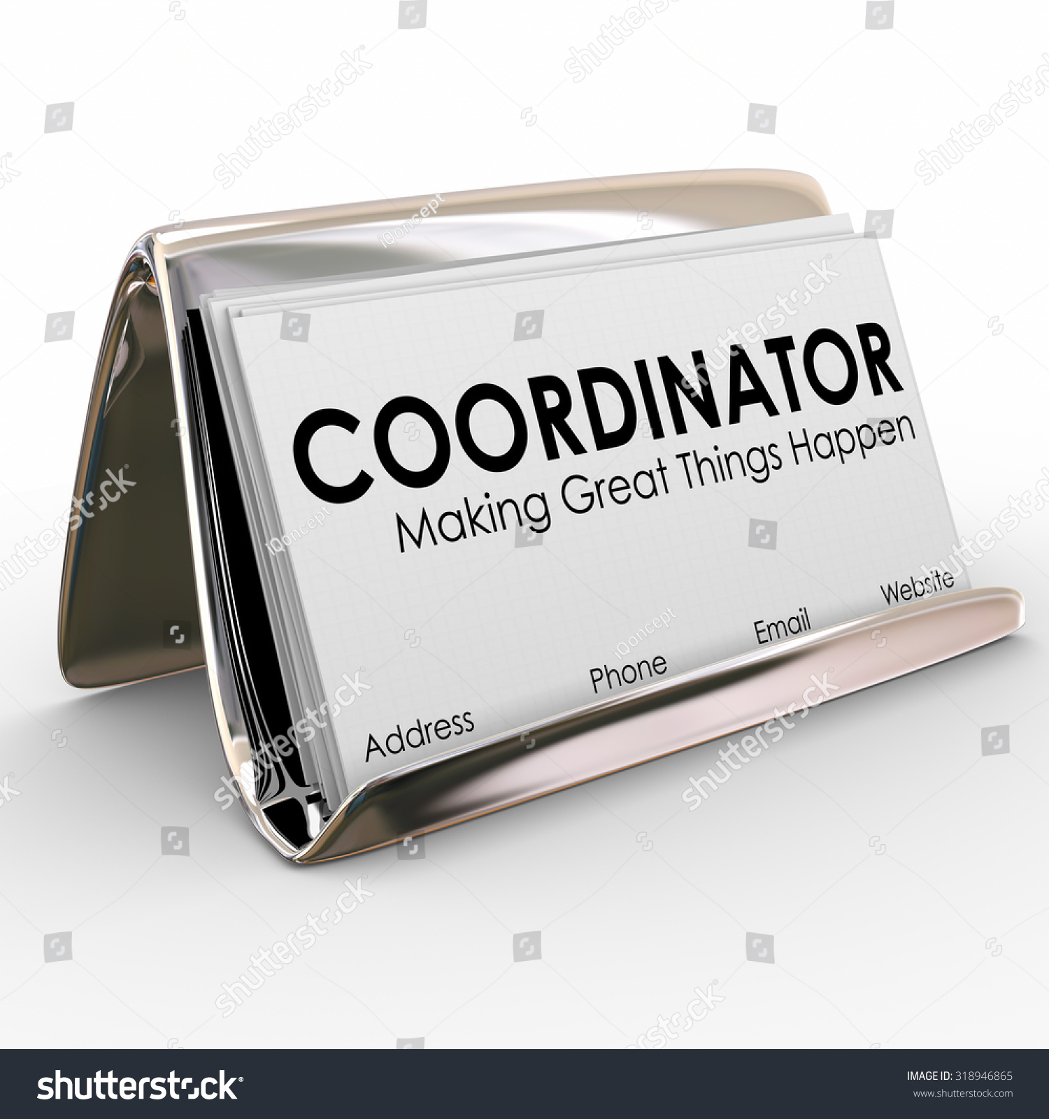 Coordinator word on business cards holder stock illustration coordinator word on business cards in a holder to illustrate a job or position for a magicingreecefo Images