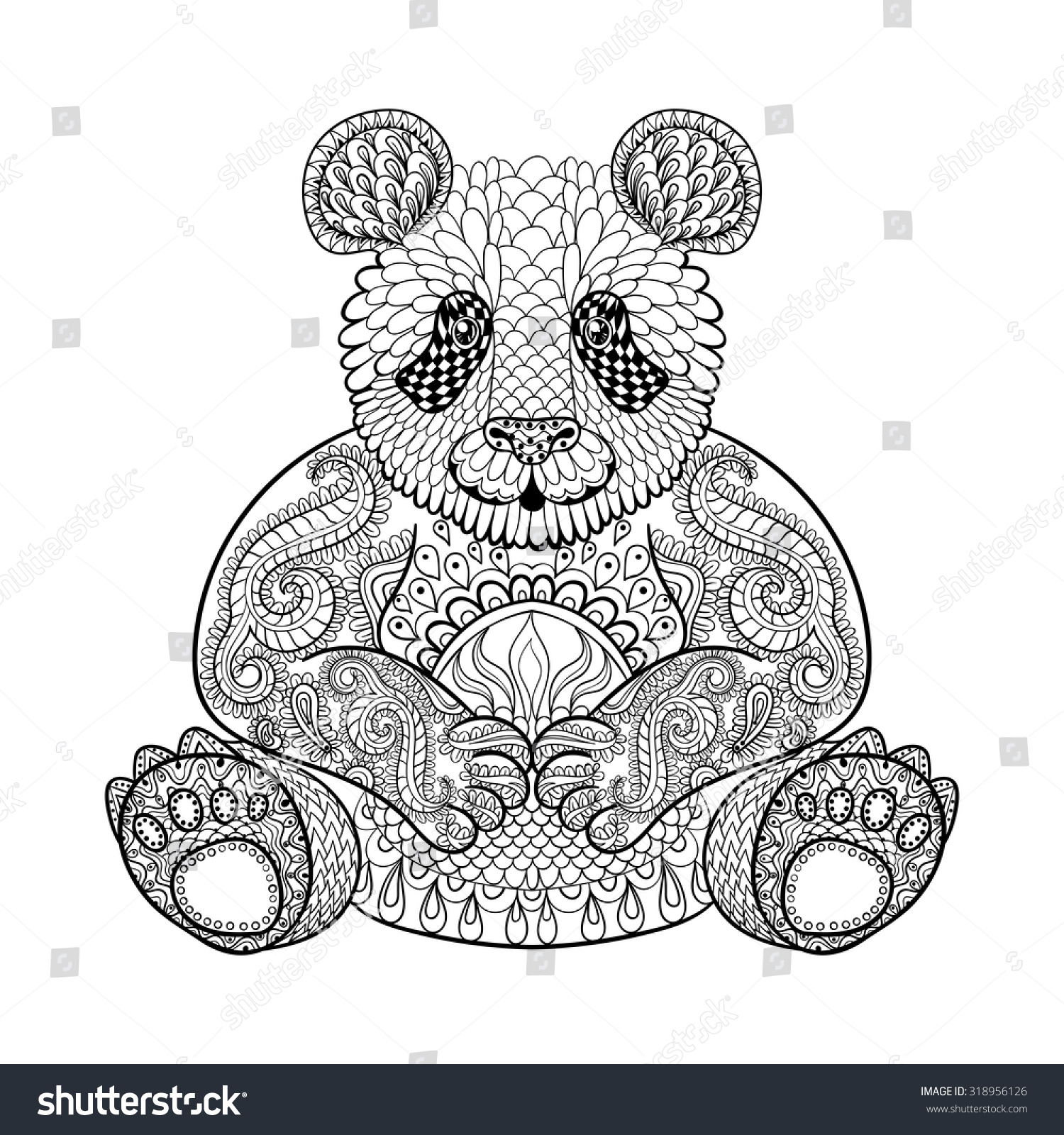 tribal animal coloring pages - photo#17
