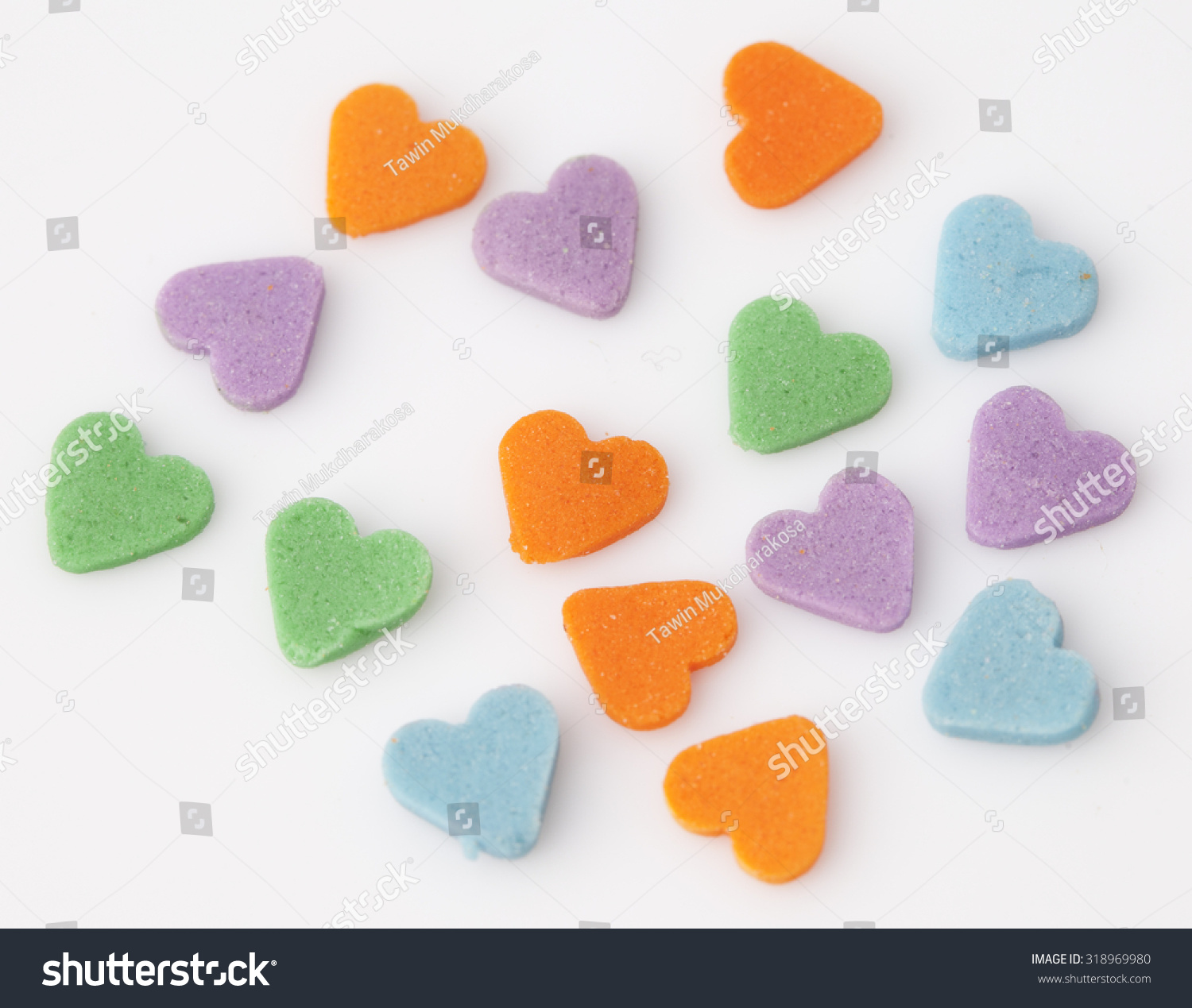 sweet colorful candy decorations form heart stock photo edit now