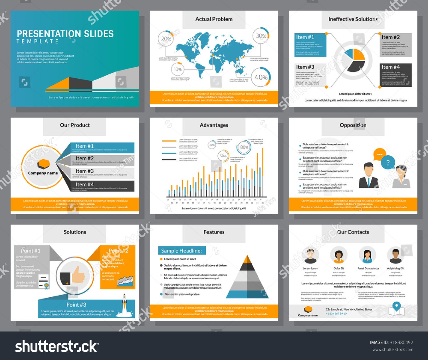 Business Infographics Presentation Slide Template Flat